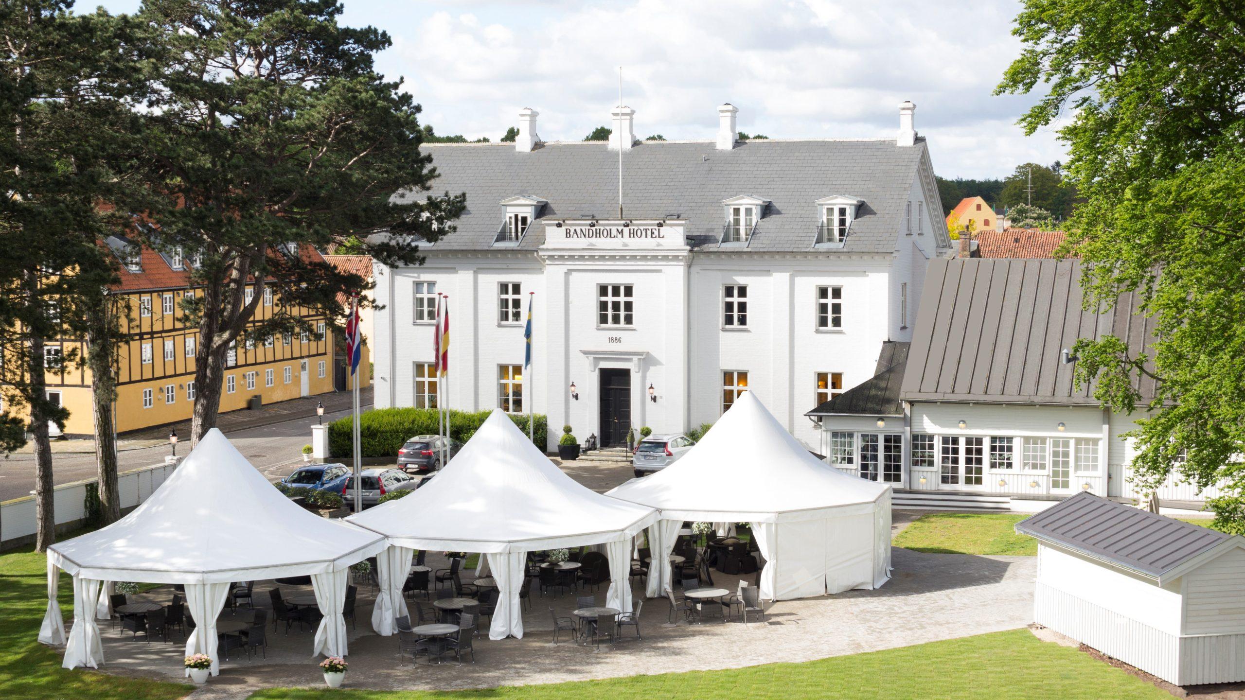 Bandholm Hotel på Lolland fik sidste år nye ejere, de er nu ved at gøre ejerkredsen større forud for kommende investeringer i flere værelser, ny restaurant og poolområde. PR-foto.