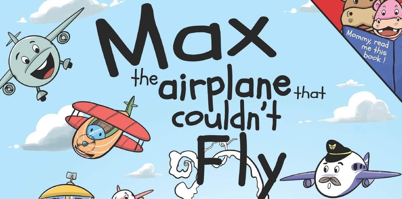 """Udsnit af forsiden på børnebogen """"Max, the Airplane that Couldn't Fly."""" Illustration via Amazon.com"""
