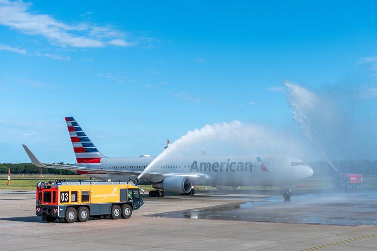 Berlin-lufthavnene satte sidste år ny passagerrekord. En ny ruter kom da American Airlines begyndte at flyve fire gange om ugen fra Philadelphia til Berlin Tegel – sæsonruten vender tilbage i år fra starten af juni til begyndelsen af oktober. Pressefoto fra BerlinAirport.de
