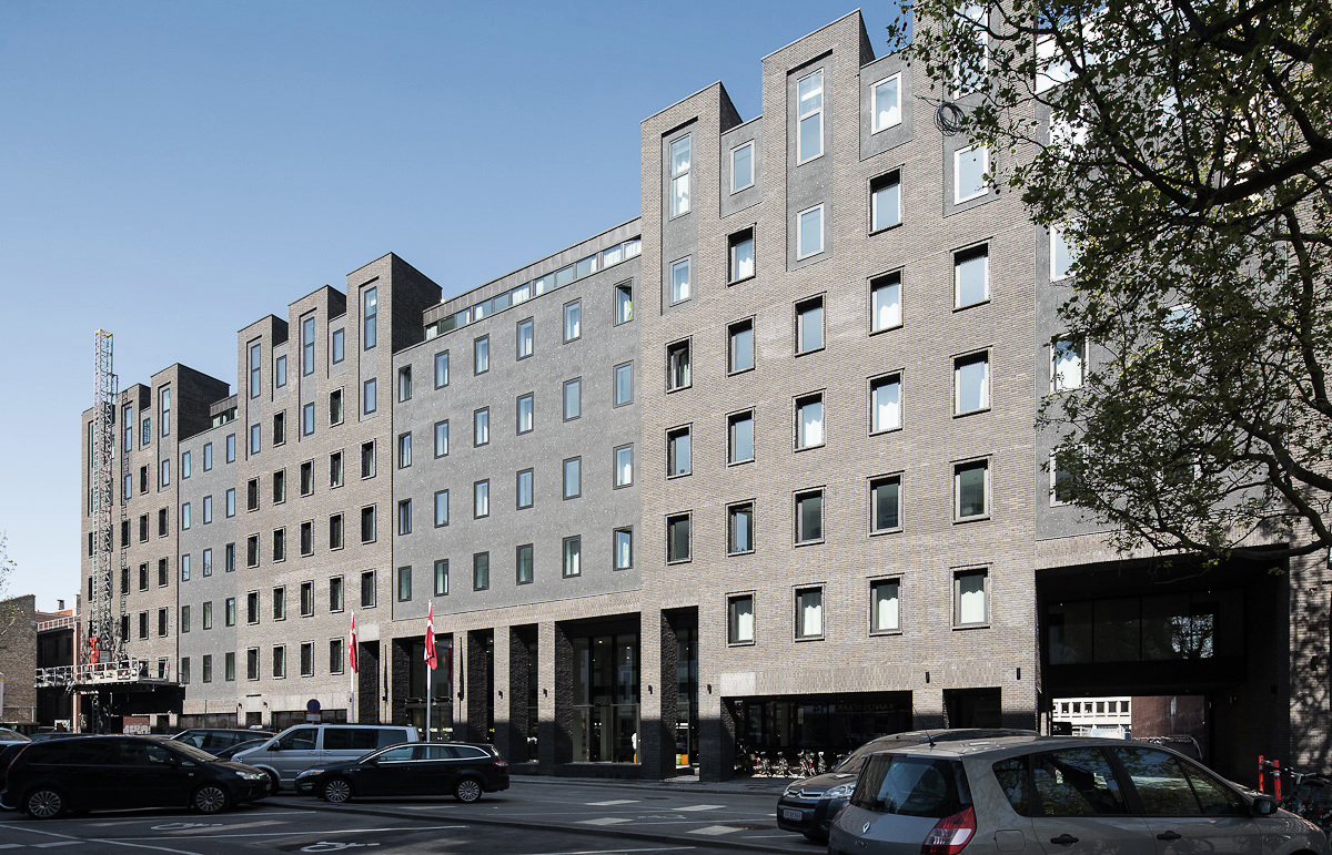 Når Wakeup-hotellet i Borgergade ved Kgs. Nytorv til oktober i år er fuldt udbygget vil det have 770 værelser og dermed være Københavns tredjestørste hotel. Foto via Kim Utzon Arkitekter.