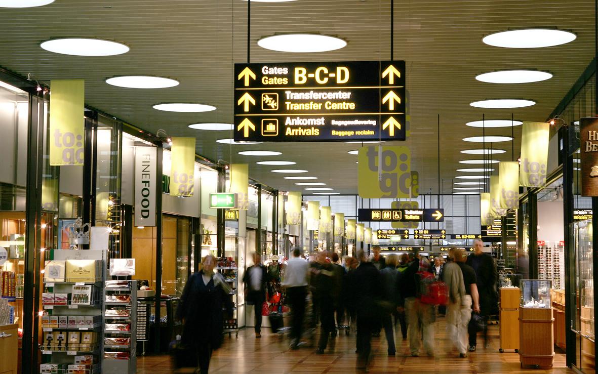 Passagerer i Københavns Lufthavn. Arkivpressefoto fra Københavns Lufthavn.