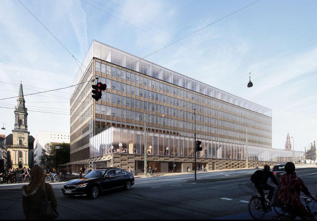 Bygningen ved Knippelsbro i Københavns Havn ejes af ATP Ejendomme, der skal finde en operatør af det kommende hotel. Presseillustration fra ATP Ejendomme.