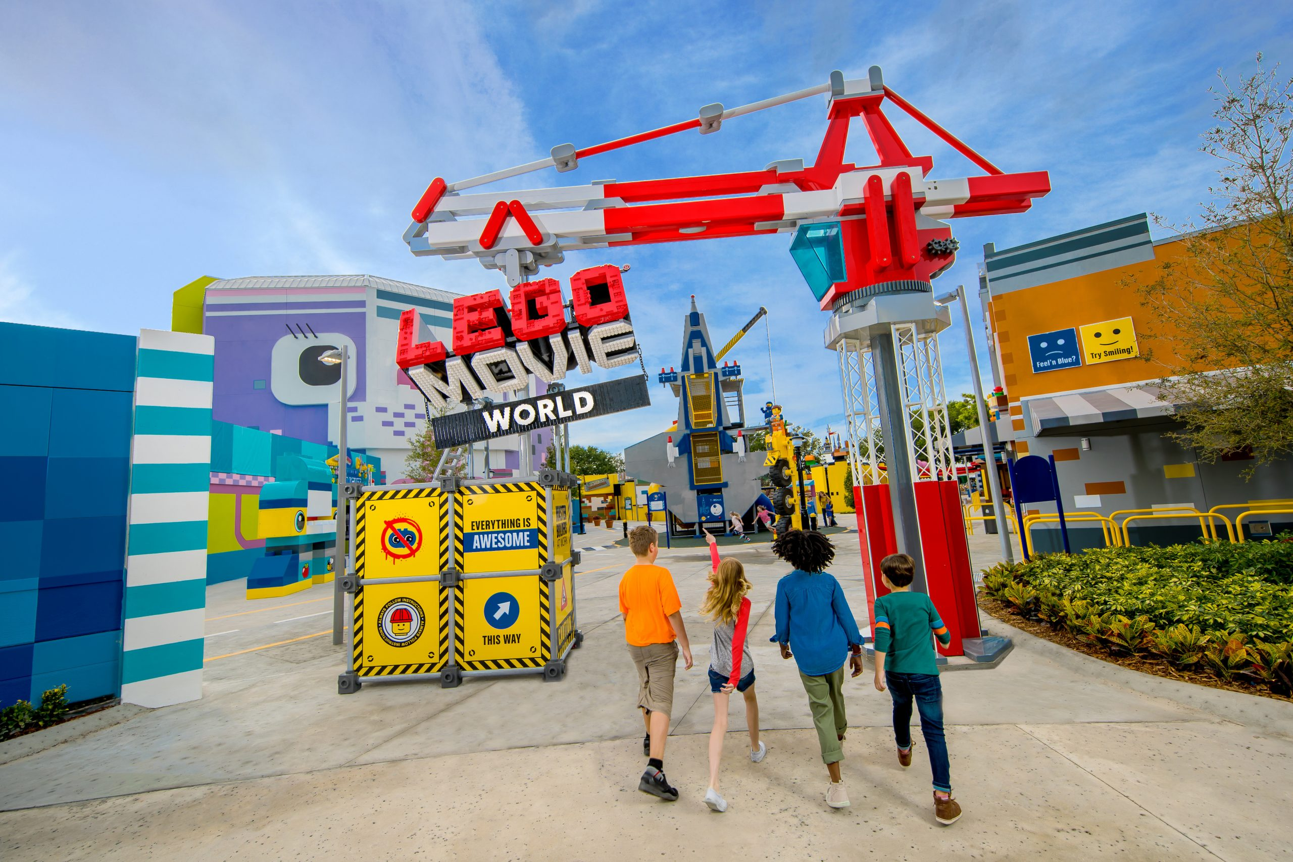 "Lego Movie World samt Skandinaviens første ""Flying Theater"" bliver hovednyhederne hos Legoland Billund til årets sæson. Pressefoto fra Lego Movie World i Florida, Chip Litherland."