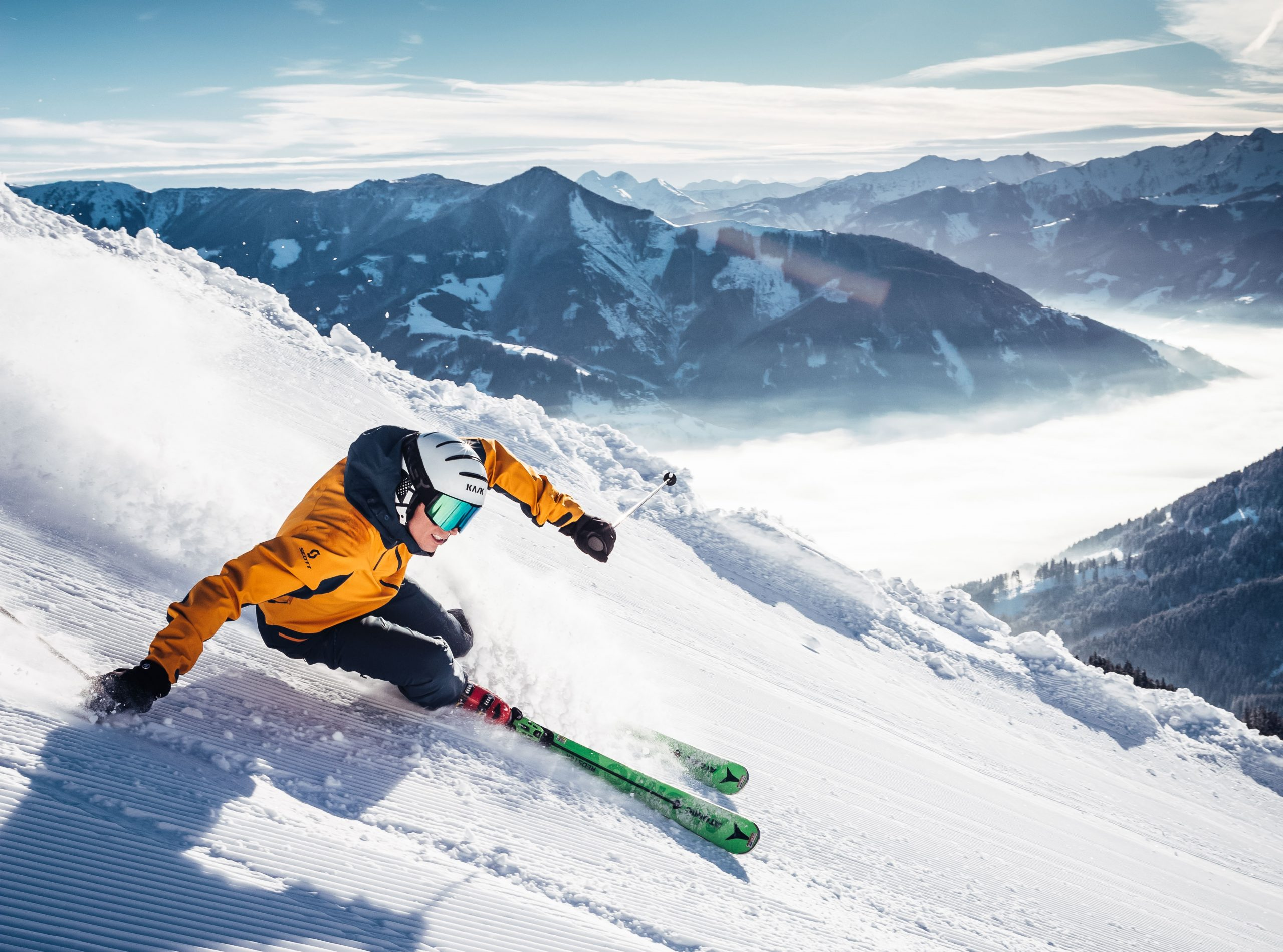 Nogle skisportssteder og rejsearrangører stiller som krav til deres snegaranti, at kunden har tjekket hjemmesiden et bestemt antal dage før afrejse. Arkivpressefoto fra ZellamSee Kaprun.com