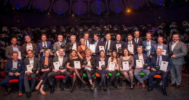 Klik for stort format. Vinderne af Danish Travel Awards 2019, foto: Michael Stub.