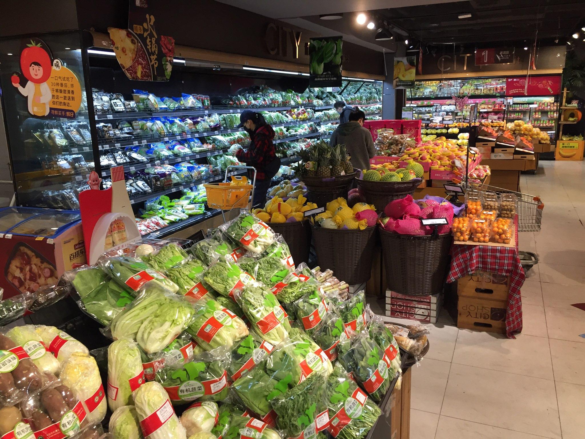 Selv om Kina er hårdt ramt af Corona-virussen går livet videre. Her et fyldt supermarked fotograferet i denne uge i Shanghai. Foto: Casper Tollerud.