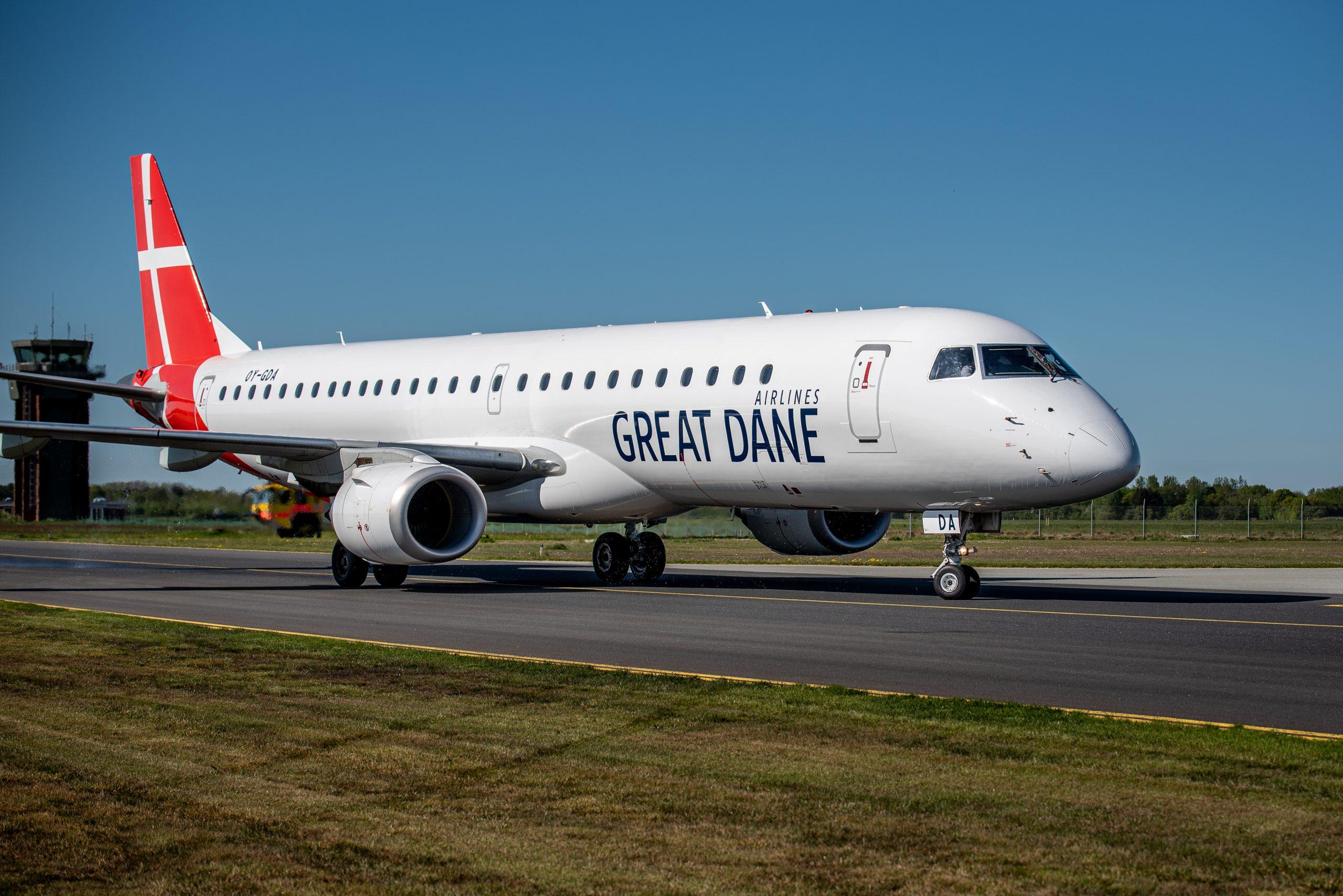 Great Dane Airlines ved endnu ikke, hvor mange passagerer det danske flyselskab kommer til at flyve med denne sommersæson. Det afhænger naturligvis af hvornår grænserne genåbnes. Arkivpressefoto: Great Dane Airlines.