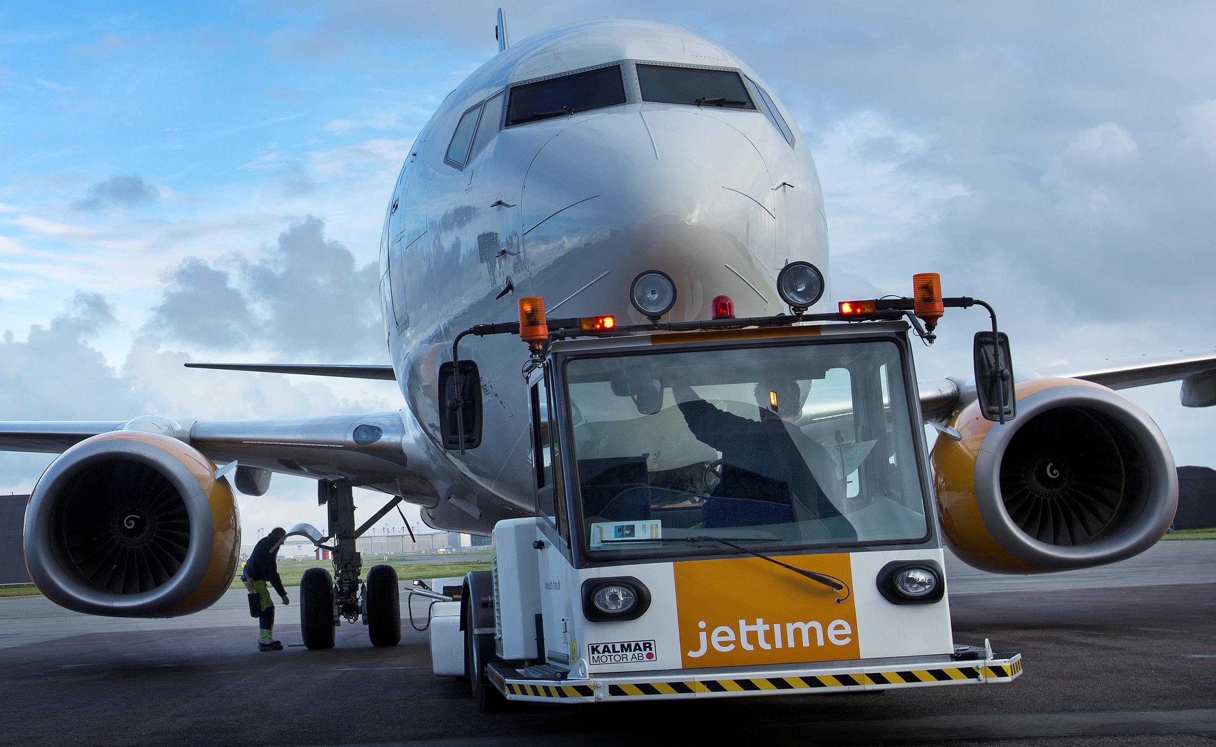 Jet Time og Danish Air Transport sender i morgen tre fly til Marrakesh i Marokko for at hente de sidste danskere hjem fra Marokko. Er der ledige pladser kan de købes af øvrige nordiske statsborgere og statsborgere fra de tre baltiske lande. Arkivfoto: Jet Time.
