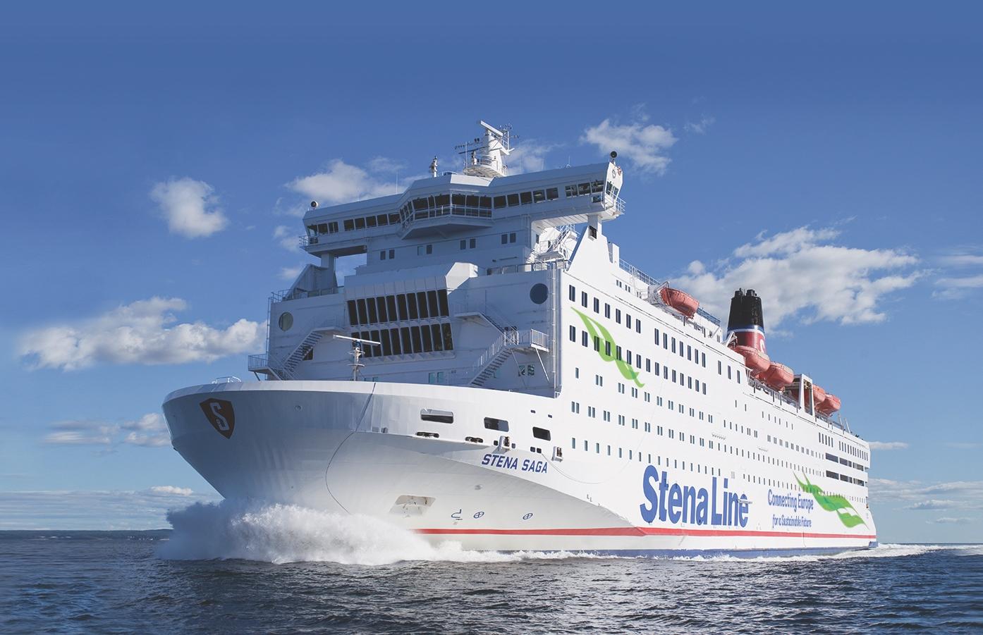 """Stena Line åbnede i 1979 ruten mellem Oslo og Frederikshavn – den er gennem årene blevet betjent af tre skibe, alle med navnet Stena Saga. Næsten en halv million passagerer rejser årligt via ruten. Blandt de loyale kunder er der oprettet en Facebook-gruppe kaldet """"Stena Sagas Venner"""" med over 12.000 medlemmer. Foto: Stena Line."""