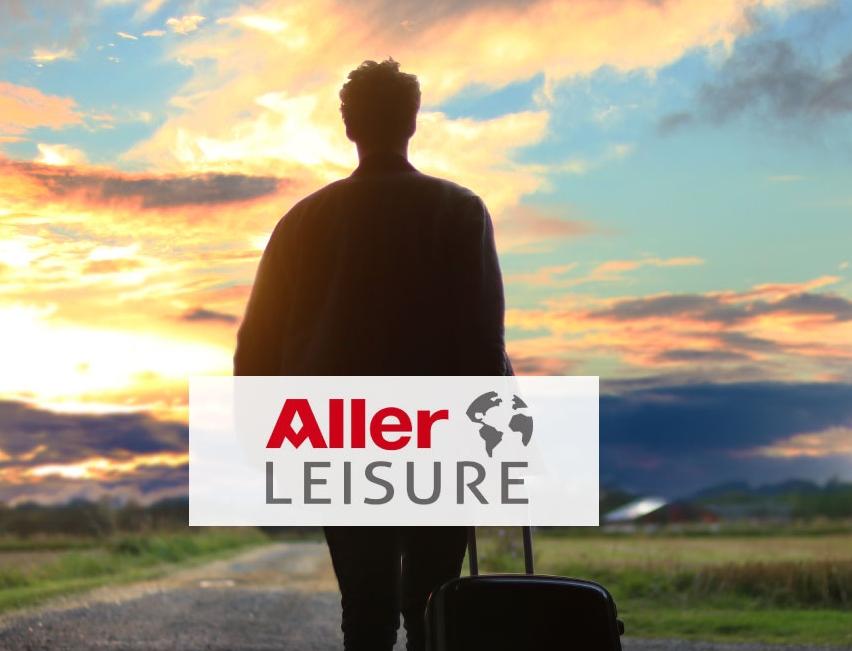 Også alle rejsebureauerne i Aller Leisure er hårdt ramt af et stærkt faldende salg som følge af coronakrisen. Illustration fra Aller Leisure – Alive A/S.