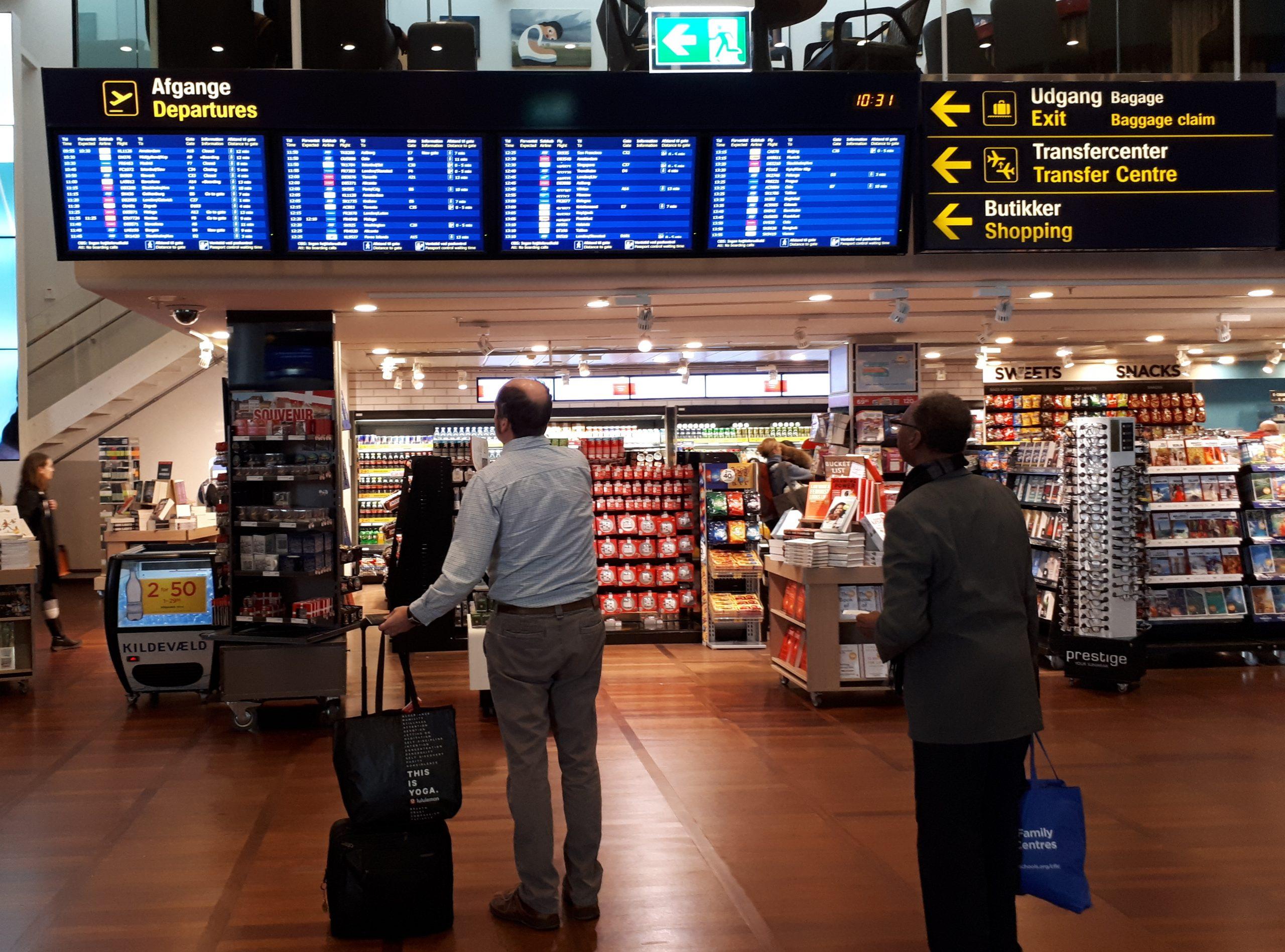 Nedgangen i køb af rejseydelser hos virksomheder verden over er i øjeblikket på omkring 37 procent, siger i hvert fald ny undersøgelse fra Global Business Travel Association. Arkivfoto fra Københavns Lufthavn: Henrik Baumgarten.