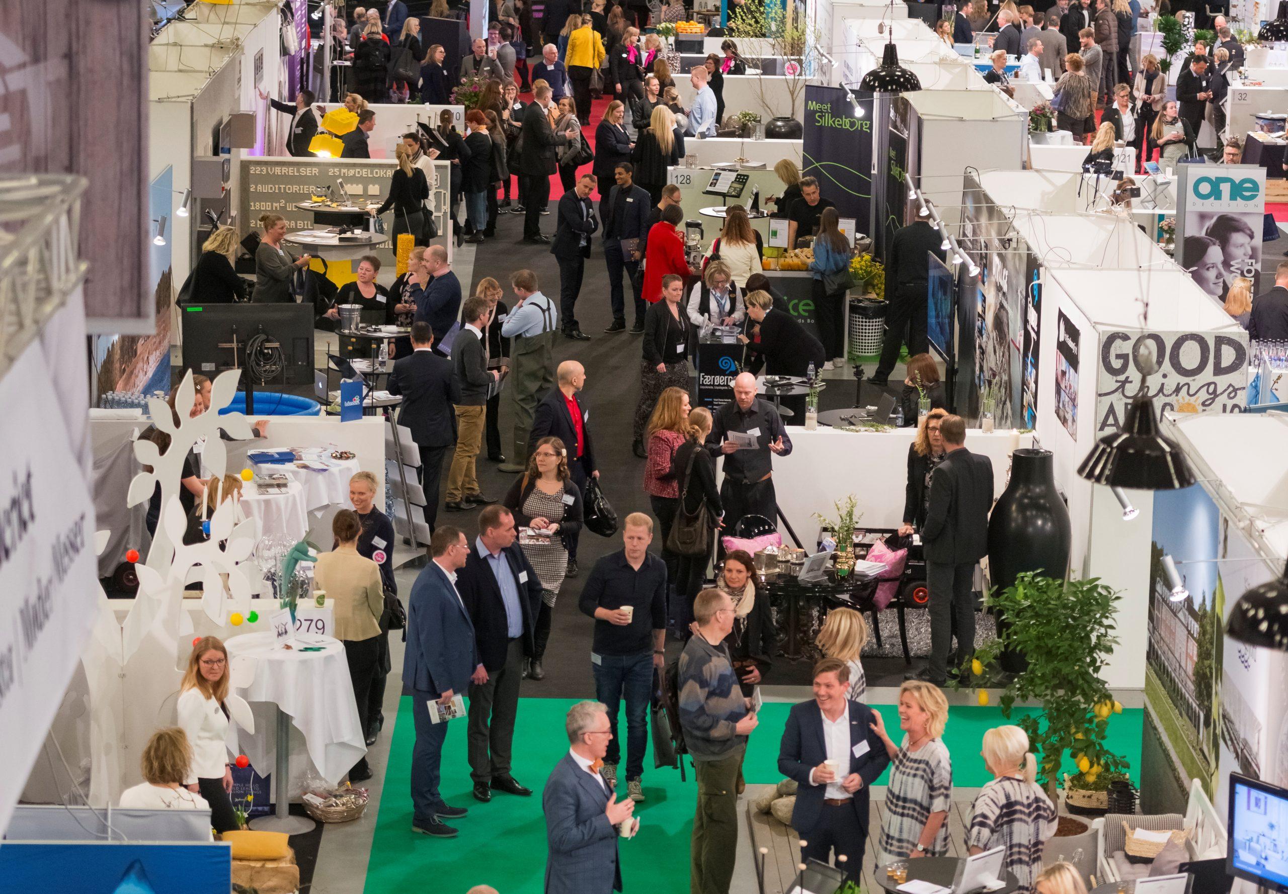 I bedste fald kommer møde- og eventbranchen i gang igen til efteråret, forventer flertal i ny undersøgelse fra Kursuslex, der blandt andet også har sit store årlige Nordic Meetings & Events Expo i København. Arkivfoto fra Kursuslex.