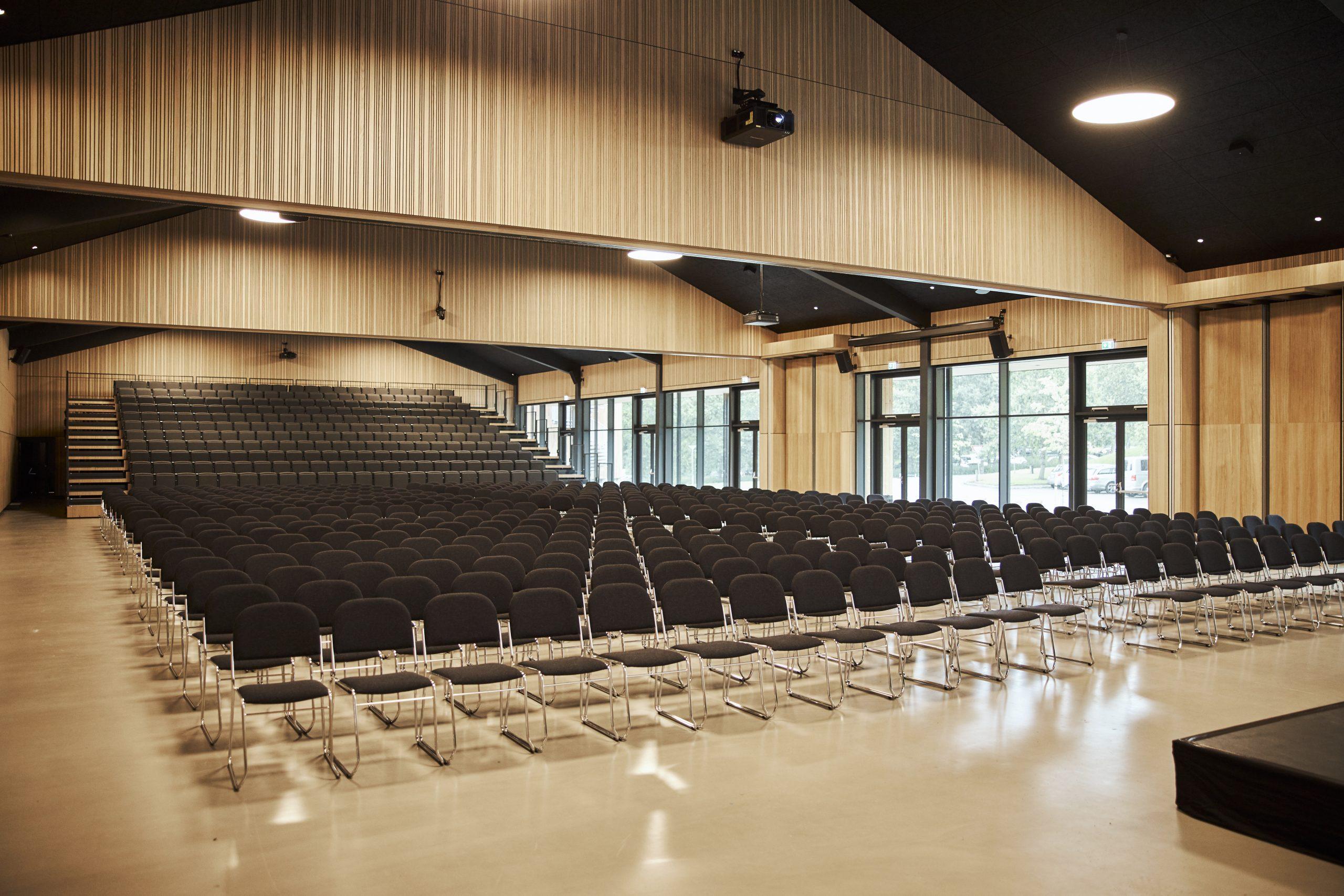 Vingsted Hotel & Konferencecenter vil igen gerne have sine mødelokaler – den største sal har plads til 600 – fyldt op, også hvis kun halvdelen af pladsen bruges på centret, der også har 187 hotelværelser. PR-foto: Kenneth Stjernegaard for Vingsted Hotel og Konferencecenter.