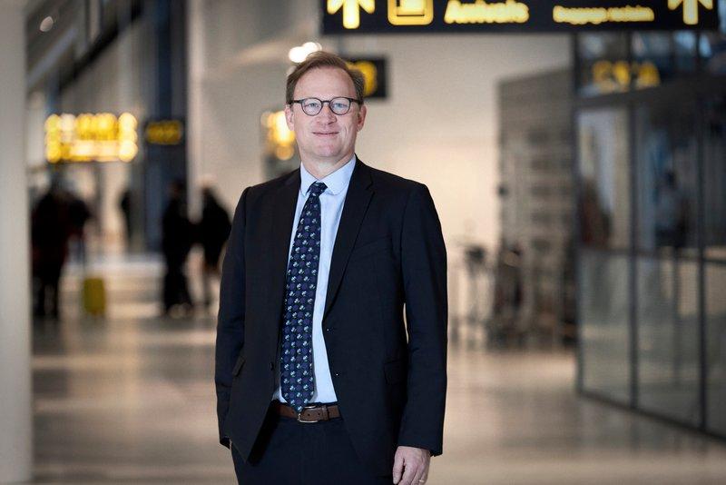 Kristian Durhuus, der i mange år var et kendt ansigt i Københavns Lufthavn, er ny administrerende direktør for færgeoverfarten mellem Helsingør og Helsingborg. Arkivfoto fra Københavns Lufthavn.