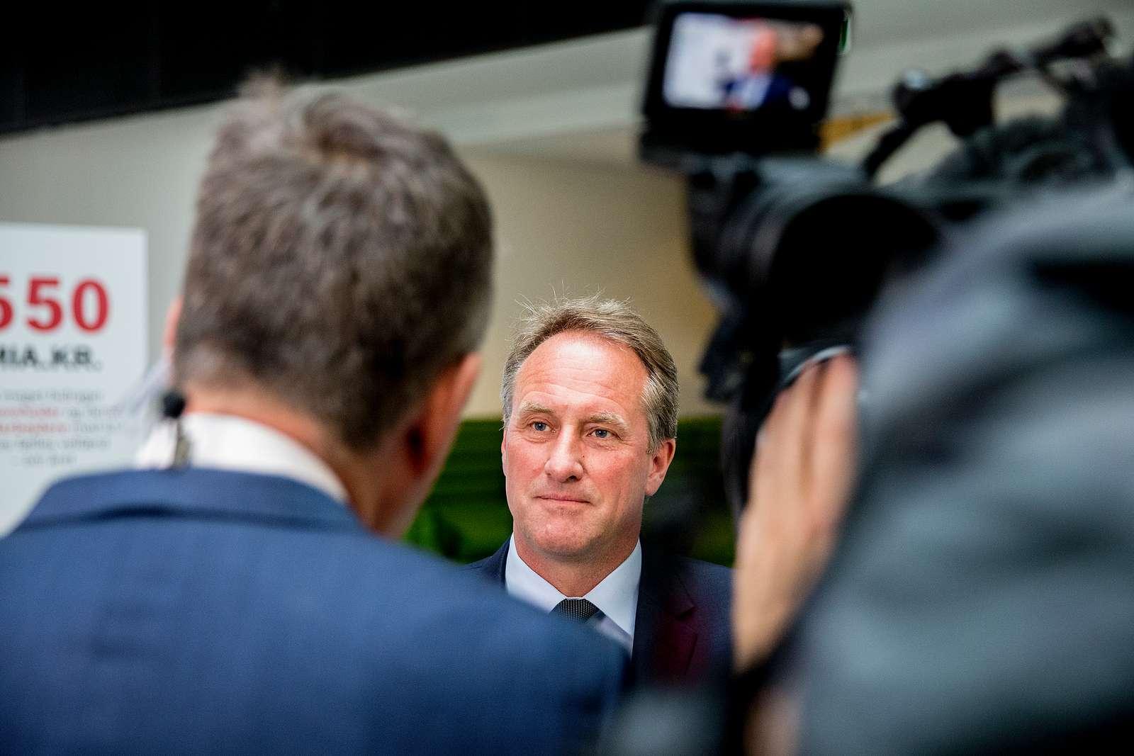 """Lars Sandahl Sørensen opfordrer regeringen """"til at skabe endnu mere klarhed for borgere og virksomheder i en svær tid."""" Pressefoto fra Dansk Industri: Thomas Arnbo."""