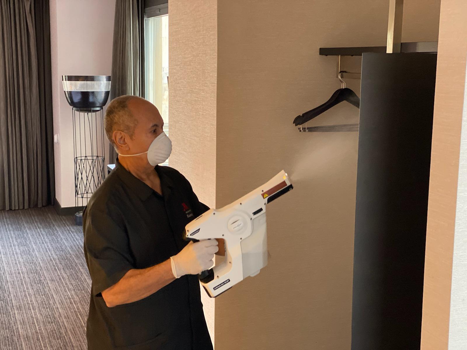 Rengøring og hygiejne bliver noget af det helt store når rejsebranchen igen åbner op, fastslår eksperter. Arkivpressefoto fra Marriott.