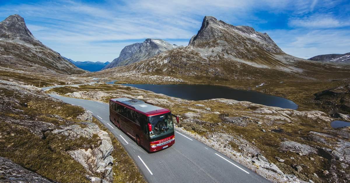 Danske og andre europæiske rejsebureauer, der udbyder busrejser og kørselv-ferier, presser også på for at genåbnet grænserne, for eksempel fra Danmark til Norge og Tyskland. Arkivpressefoto: Samuel Taipale, VisitNorway.com