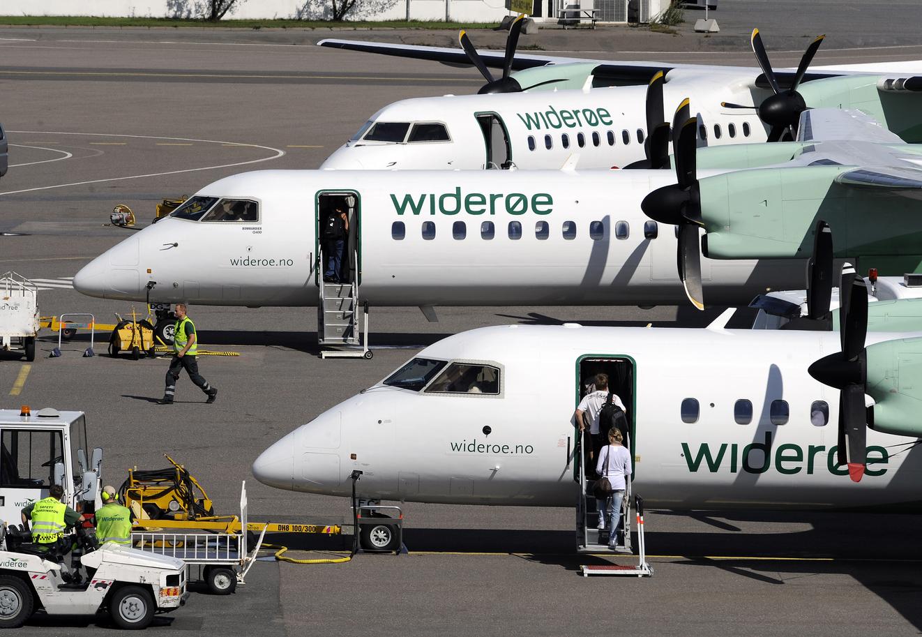 Widerøe betjener 50 lufthavne i navnlig Norge, men også uden for landets grænser. Pressefoto.