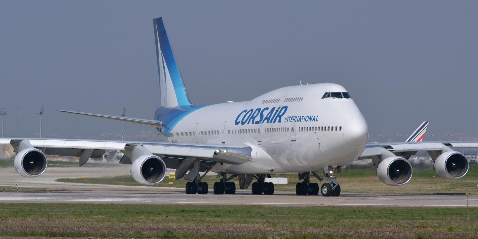 Den sidste Boeing B747-400 fra franske Corsair, Wikipedia-foto: Olivier Cabaret.