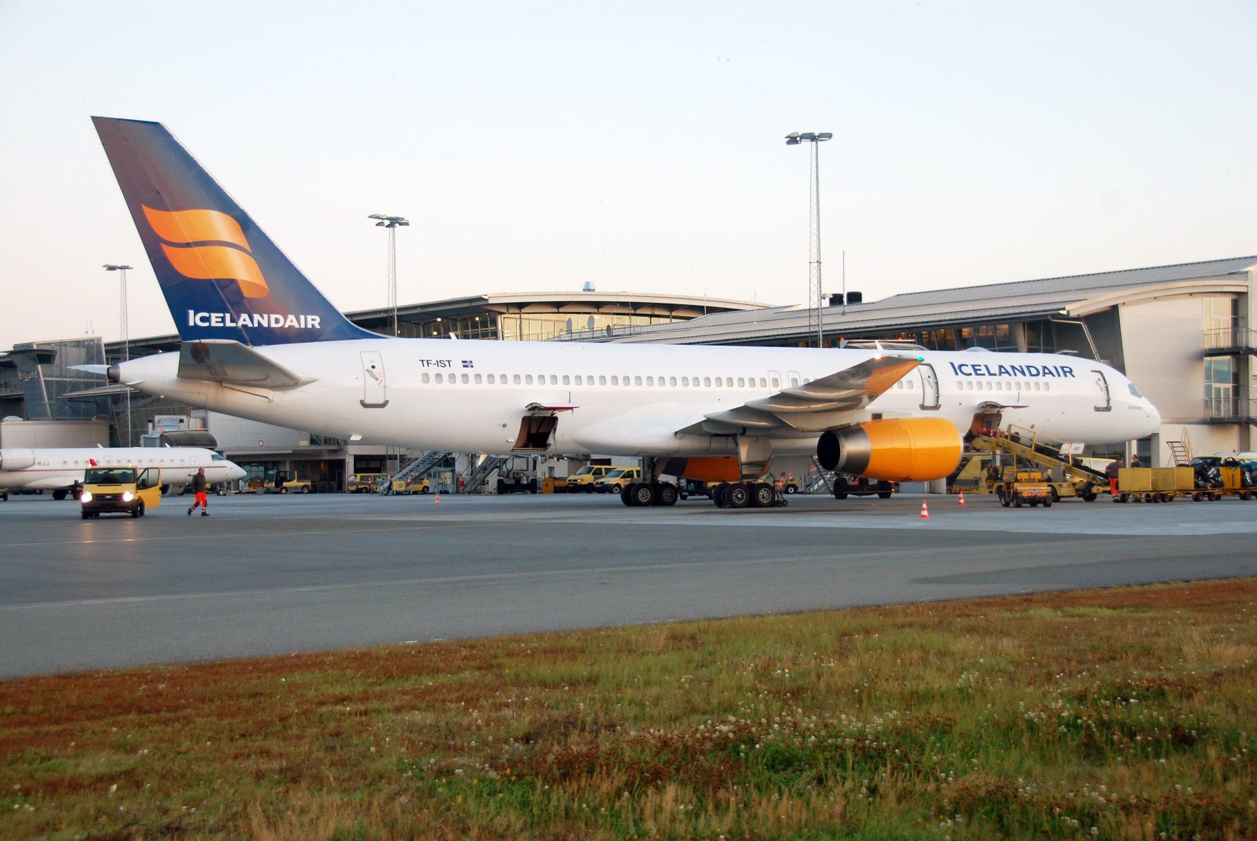 Icelandair genoptager i dag ruten mellem Island og Billund Lufthavn med to fly om ugen. Arkivpressefoto fra Billund Lufthavn.