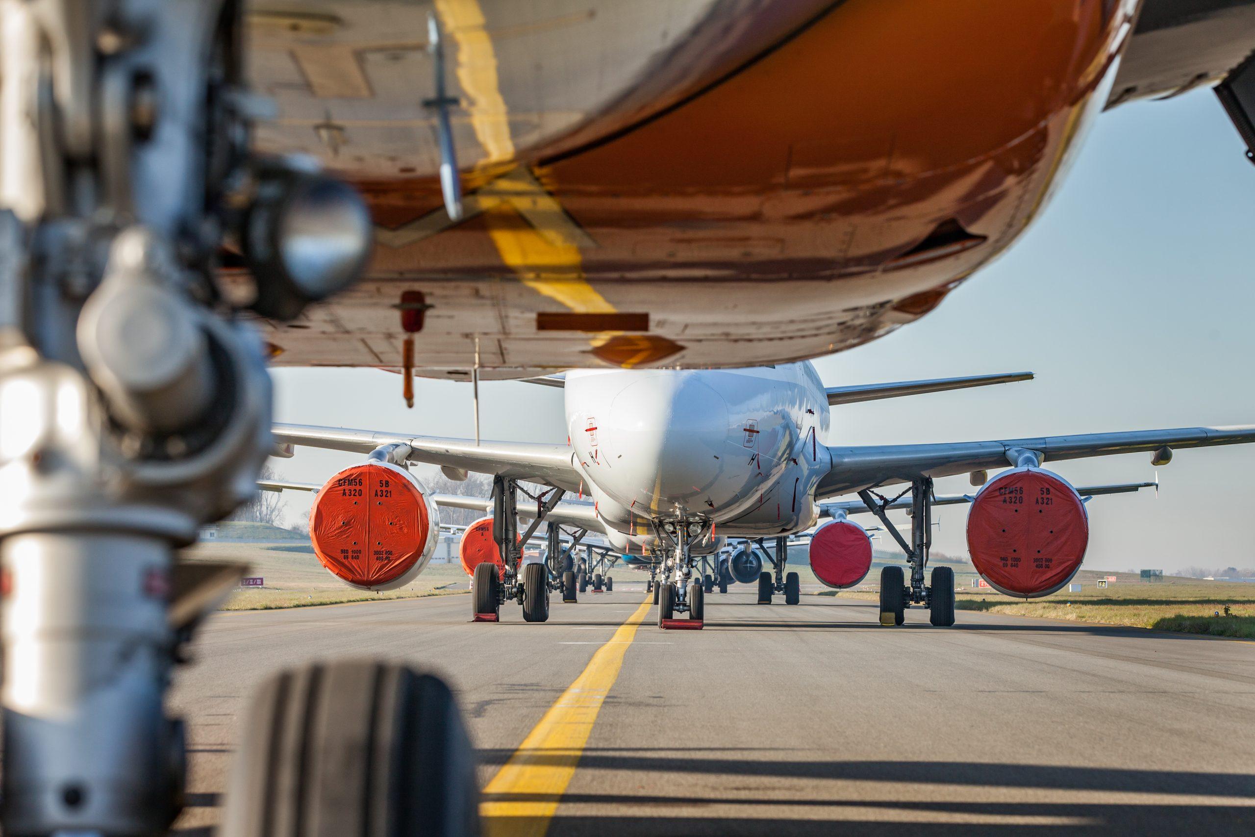 Som følge af coronakrisen flyver også Brussels Airlines i denne tid med et reduceret trafikprogram. Pressefoto: Brussels Airlines.