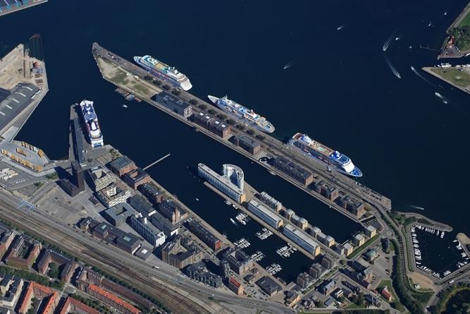 Krydstogtskibe i Københavns Havn – arkivpressefoto fra Copenhagen Malmö Ports: Perry Nordeng.