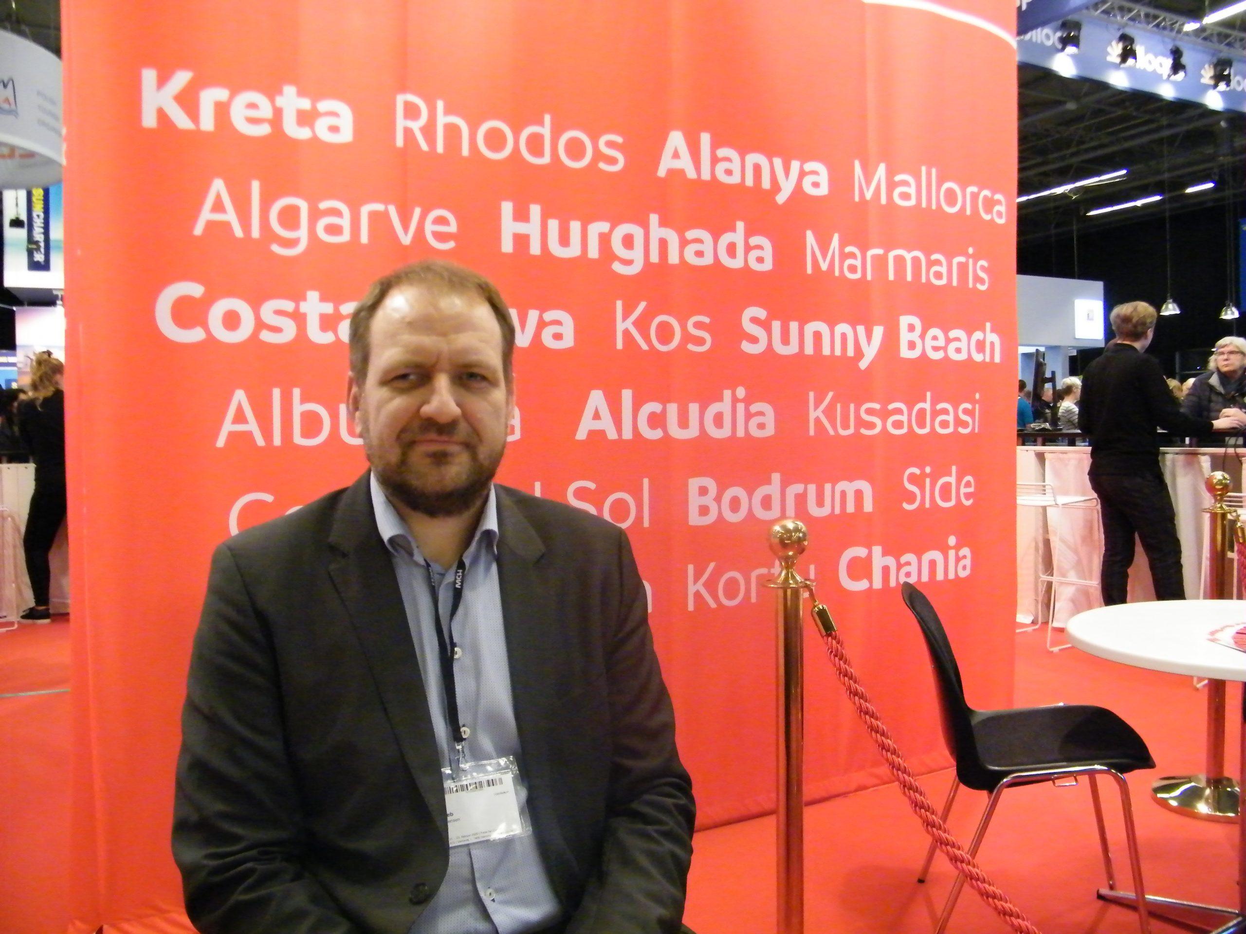 Deniz Jensen er efter syv år på posten stoppet som direktør for Sunweb, Danmarks femte største charterrejsebureau. Foto: Henrik Baumgarten.