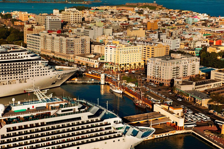 Ingen krydstogtskibe sejler i dag som følge af coronakrisen. Men verden over gør rederier og havne klar til igen at få besøg af skibe. Arkivpressefoto fra Sheraton Old San Juan Hotel.