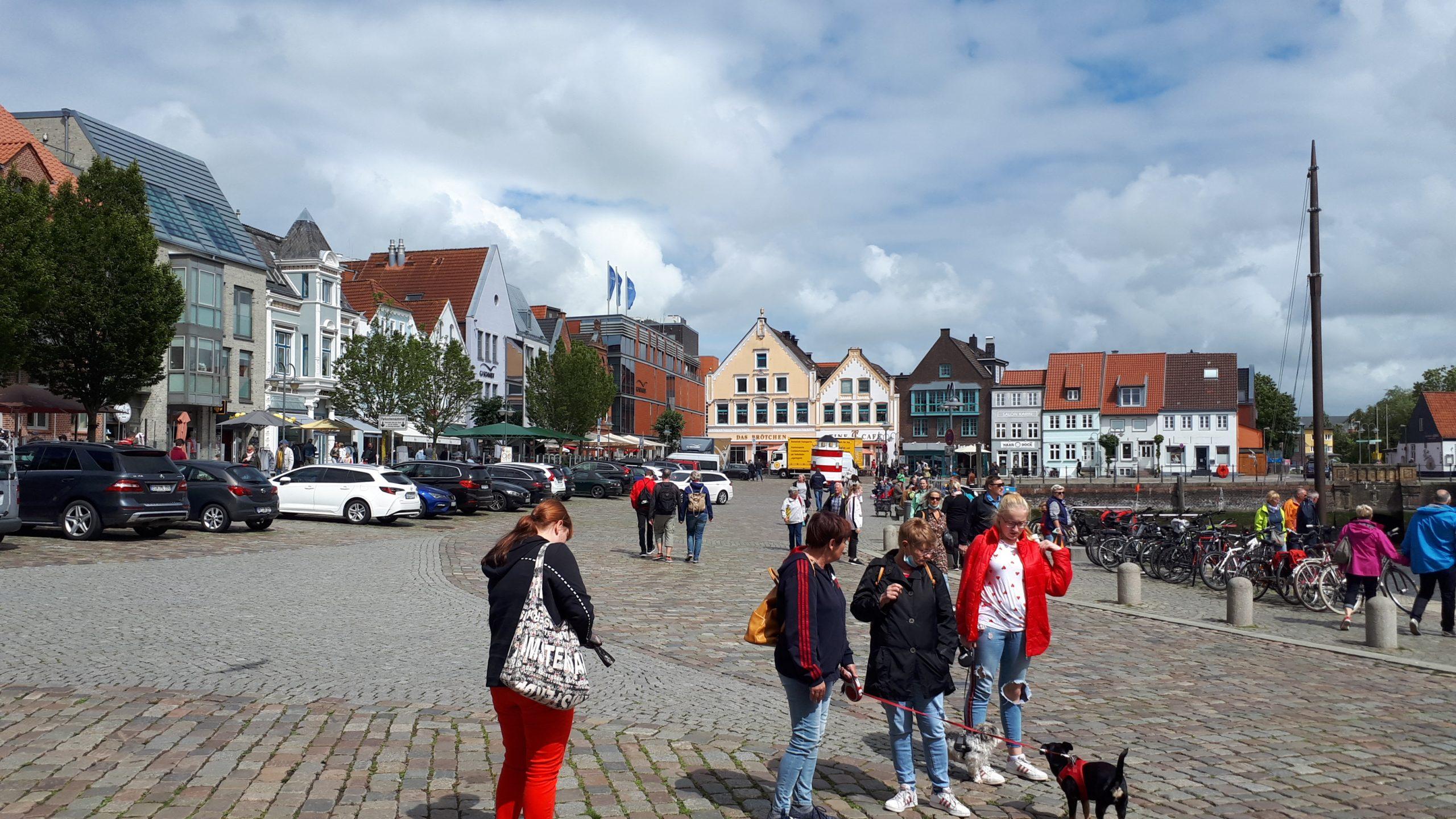 Den nordligste tyske delstat, Slesvig-Holsten, er stadig åben for danske turister. Her er det fra byen Husum i Slesvig-Holsten, foto: Henrik Baumgarten.