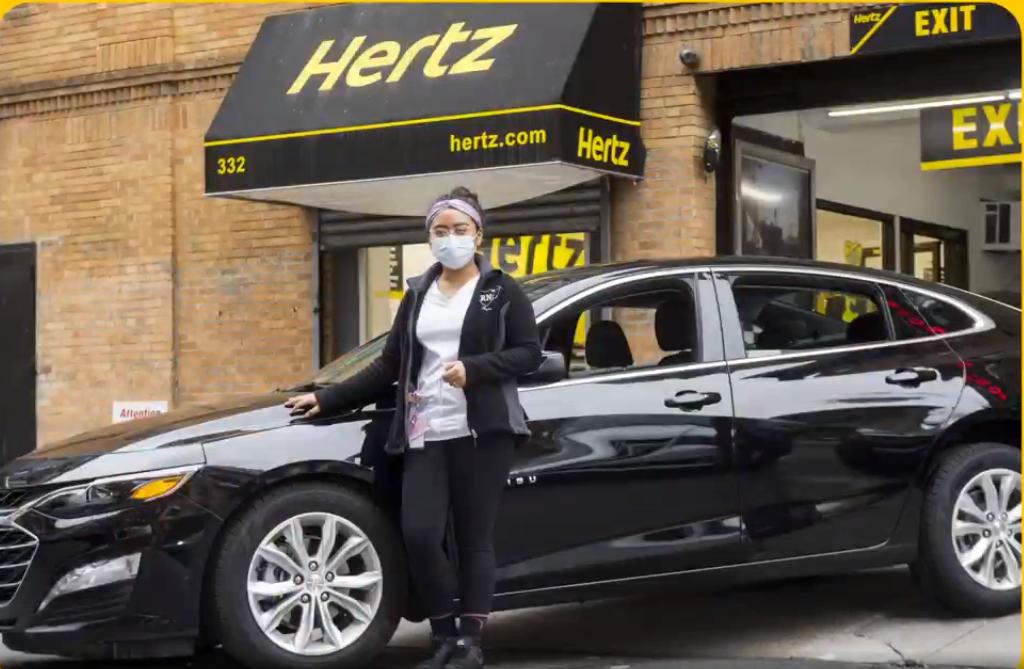 Hertz i blandt andet USA er i kontrolleret betalingsstandsning, men opererer stort set som normalt. I Norden ejes franchisen til Hertz af Volvo. Arkivfoto fra Hertz Global Holdings.