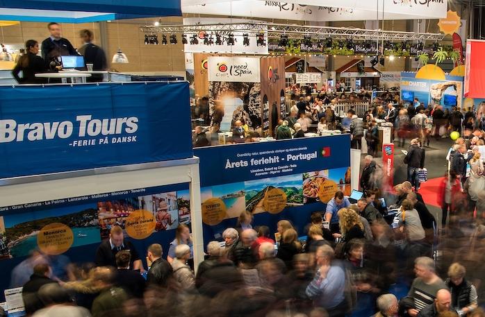 Bravo Tours var det største og mest kendte rejsebureau i nu krakkede TravelCo Nordic. Bravo Tours videreføres under nyt navn og delvist nyt ejerskab. Arkivpressefoto fra Ferie for Alle i Messecenter Herning: Lars Møller.