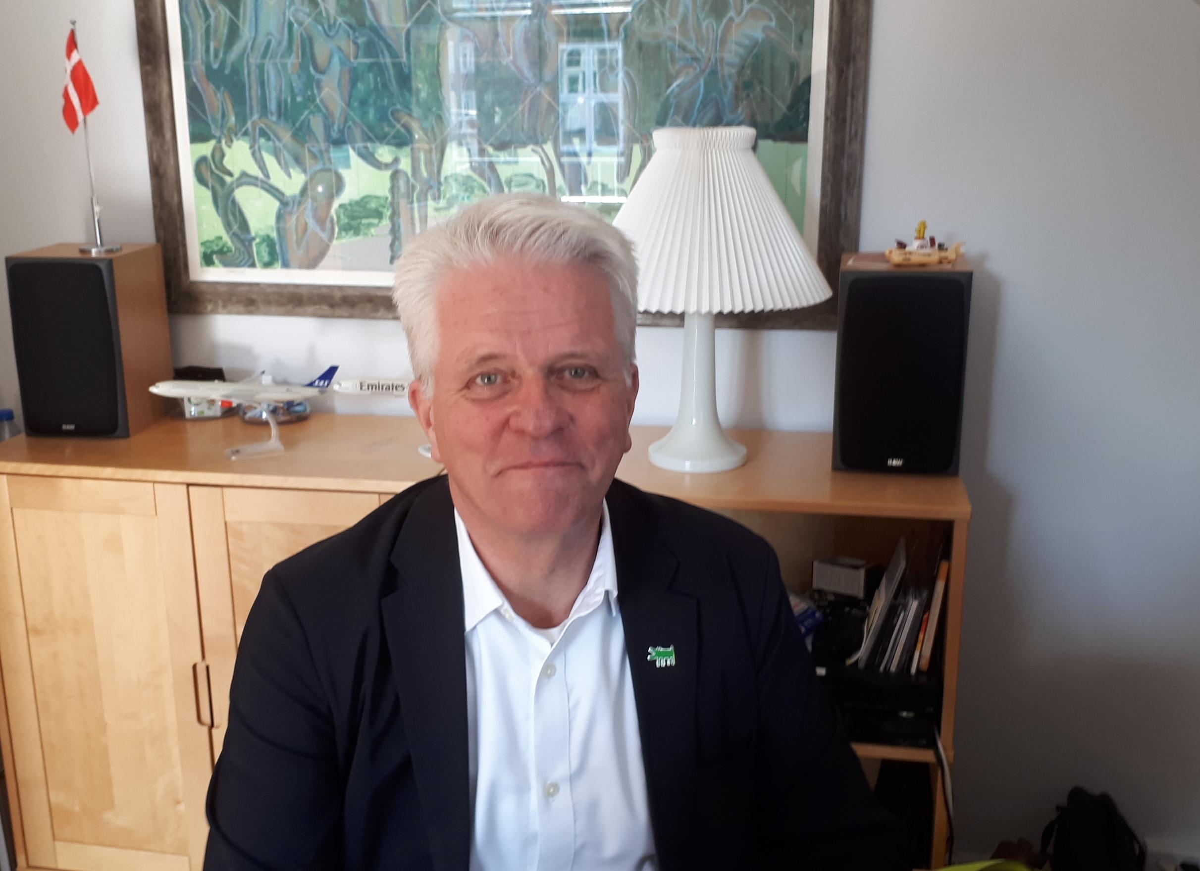 """""""Hvis regeringen ønsker en dansk rejsebureaubranche, så skal vi have hjælp nu, ellers forsvinder branchen og forbrugerne overlades til udenlandske rejsebureauer,"""" siger DRF's direktør, Lars Thykier. Arkivfoto: Henrik Baumgarten."""