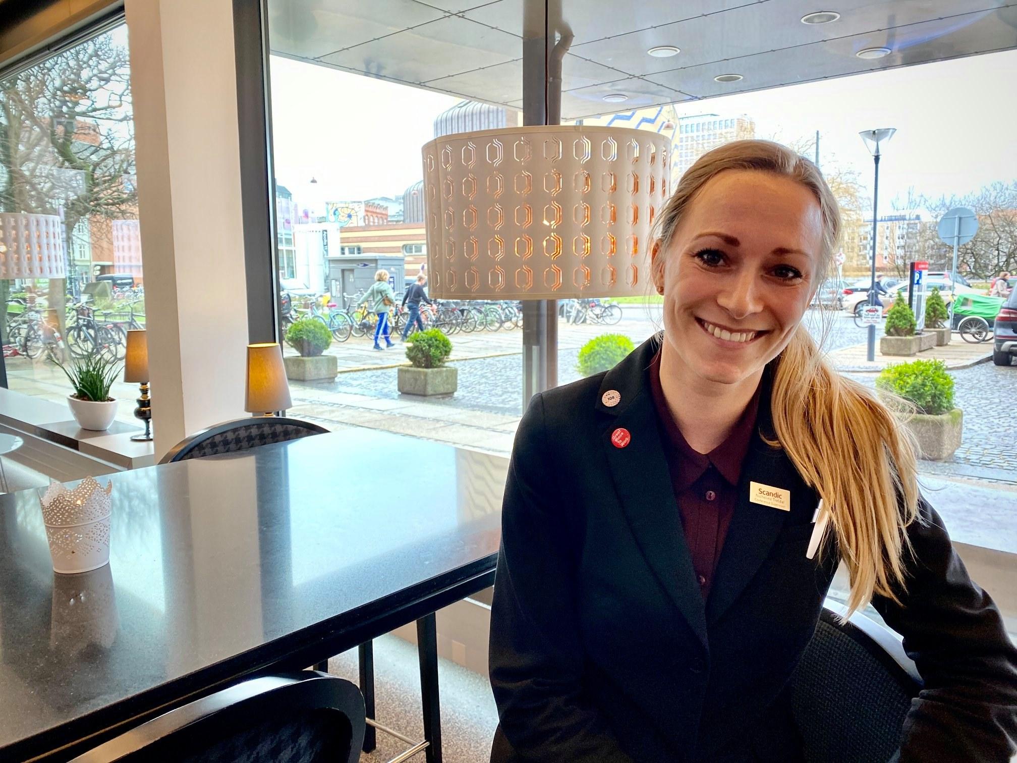 Nicholine Treldal er ny general manager for Scandic Roskilde Park. I alt har Scandic udnævnt fire nye general managers i Danmark. Foto via Scandic Copenhagens Facebook-side.