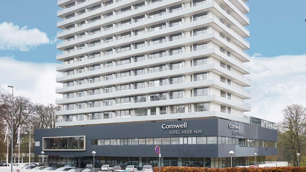 Comwell-hotellet Hvide Hus i det centrale Aalborg vil i år være kædens eneste åbne hotel i Danmark. Arkivpressefoto fra Destination Nord.