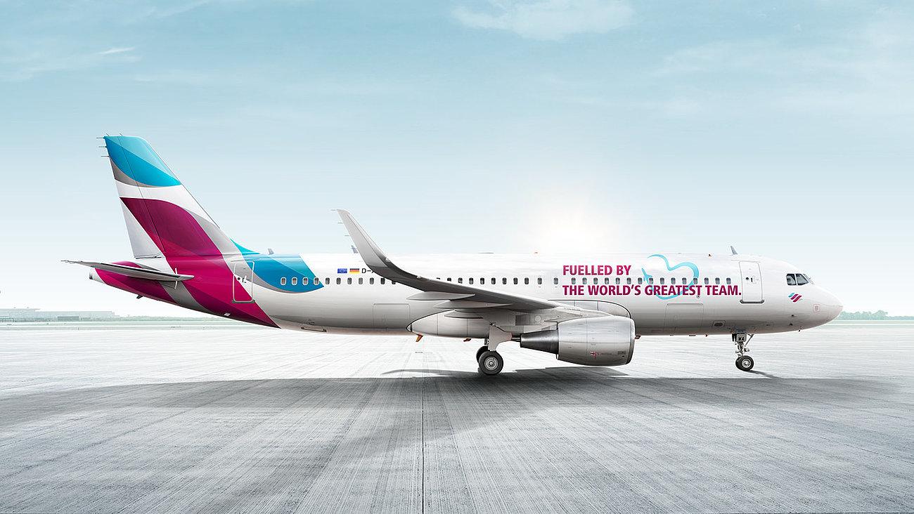 Sådan ser Eurowings kommende Teamflieger ud. (Foto: Eurowings   PR)