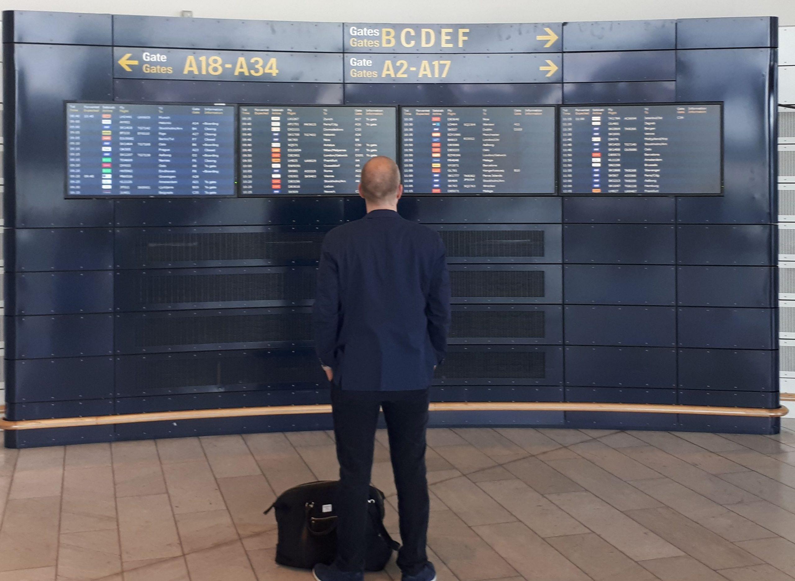 Coronakrisen vil indtil videre også påvirke antallet af forretningsrejser. Arkivfoto fra Københavns Lufthavn: Henrik Baumgarten.