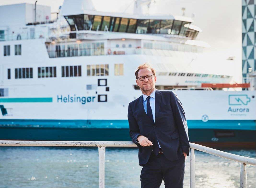 Kristian Durhuus, tidligere driftsdirektør i Københavns Lufthavn, blev sidste sommer ny administrerende direktør hos ForSea, der sejler døgnet rundt mellem Helsingør og Helsingborg. PR-foto: ForSea.