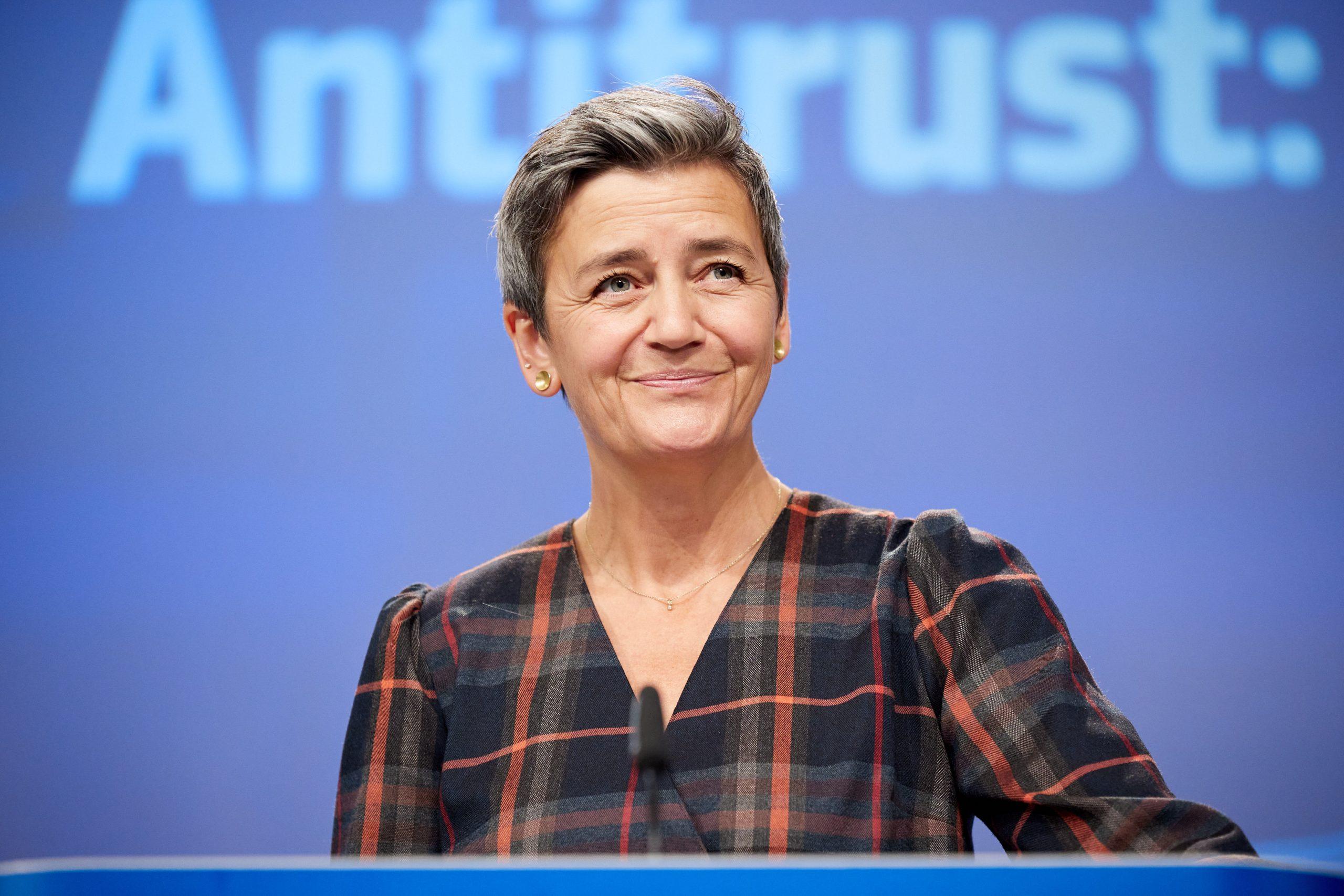 Margrethe Vestager, EU's konkurrencekommissær samt en af EU-Kommissionens tre næstformænd. EU-pressefoto, Claudio Centonze.