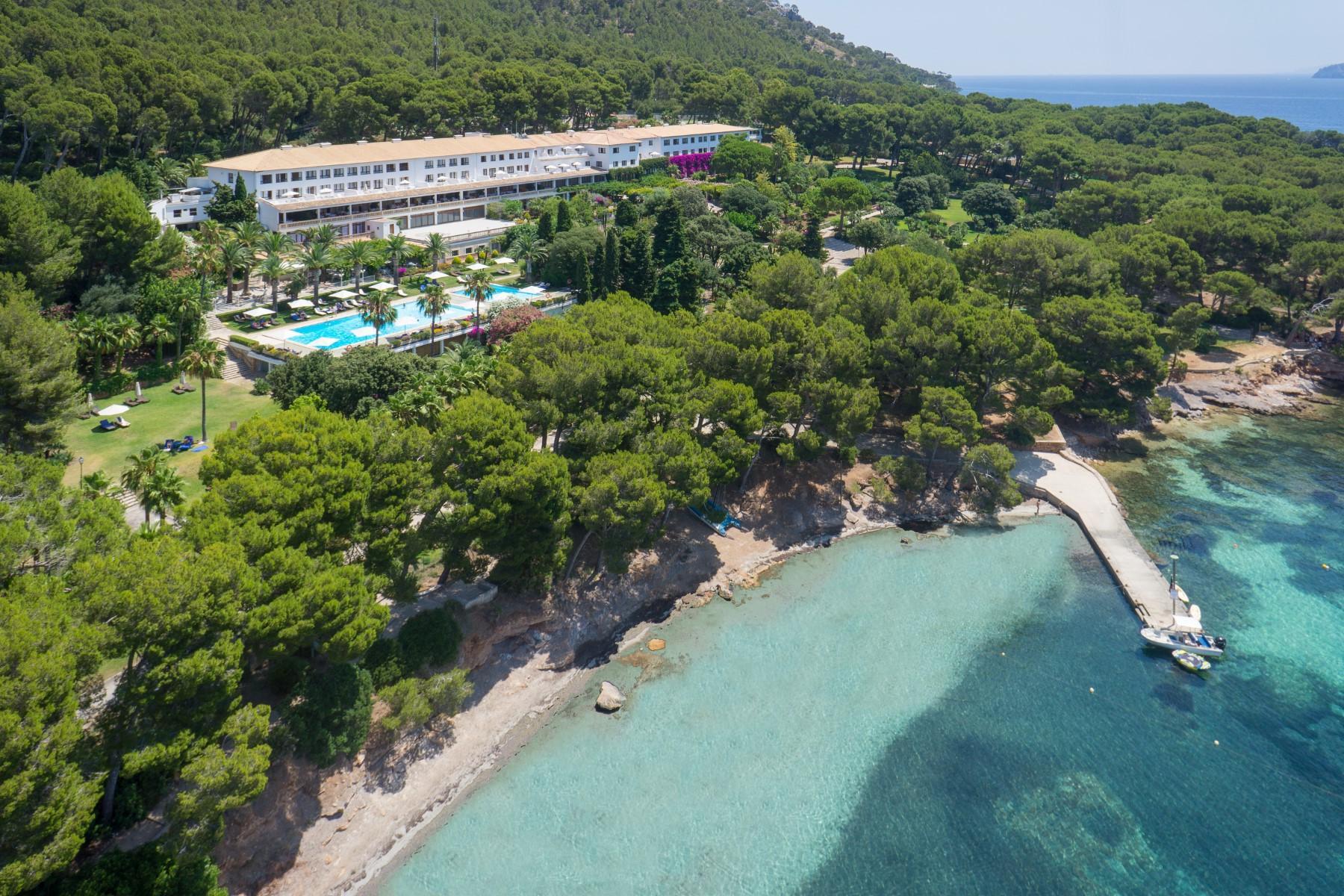 Resortet Cap Formentor Hotel på det nordlige Mallorca har blandt meget andet 121 dobbeltværelser samt fire restauranter. PR-foto.