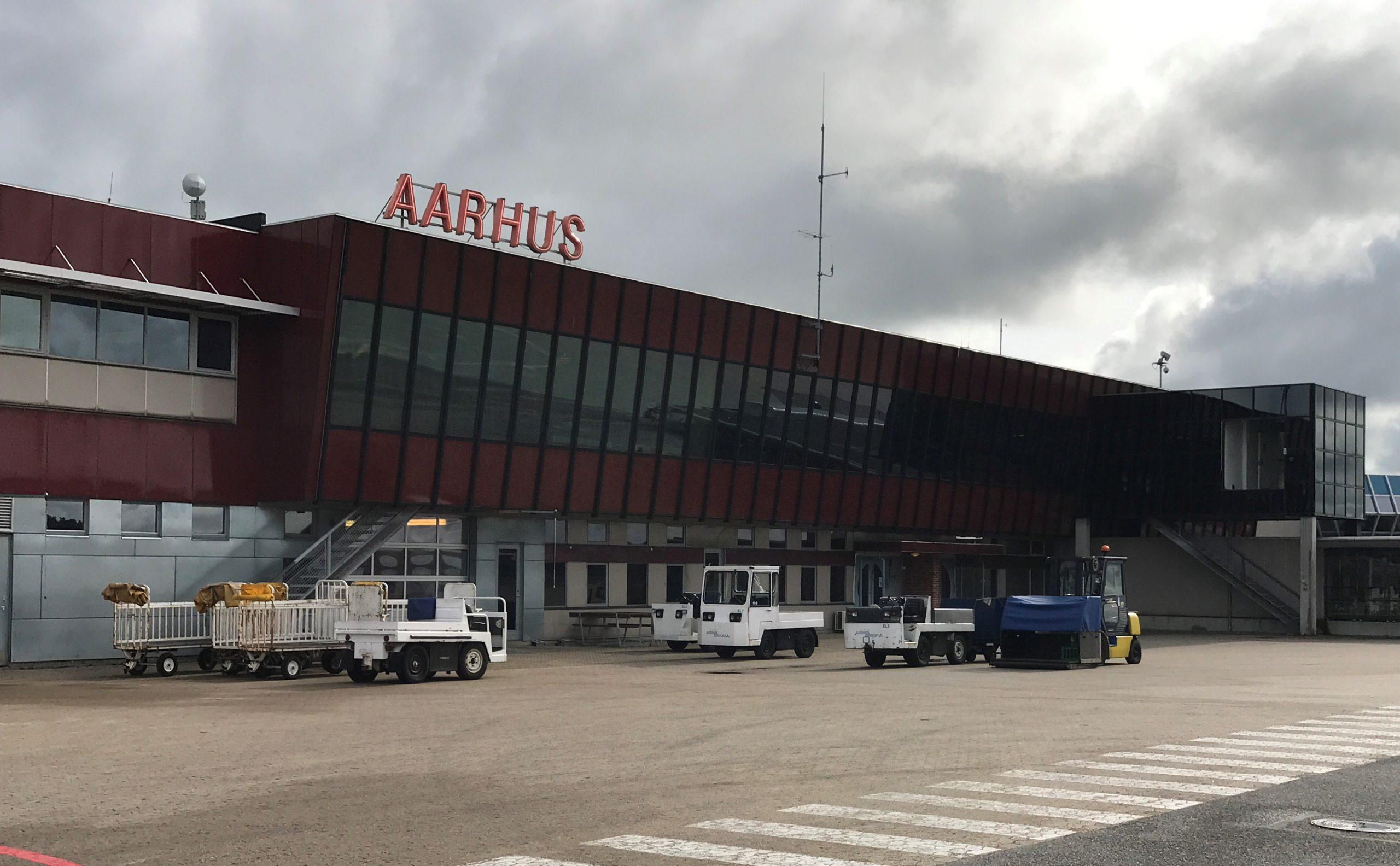 Der er endnu ingen arkitekttegning af det kommende hotel ved Aarhus Lufthavn, der forventes åbnet indenfor et års tid. Arkivfoto: Ole Kirchert Christensen.