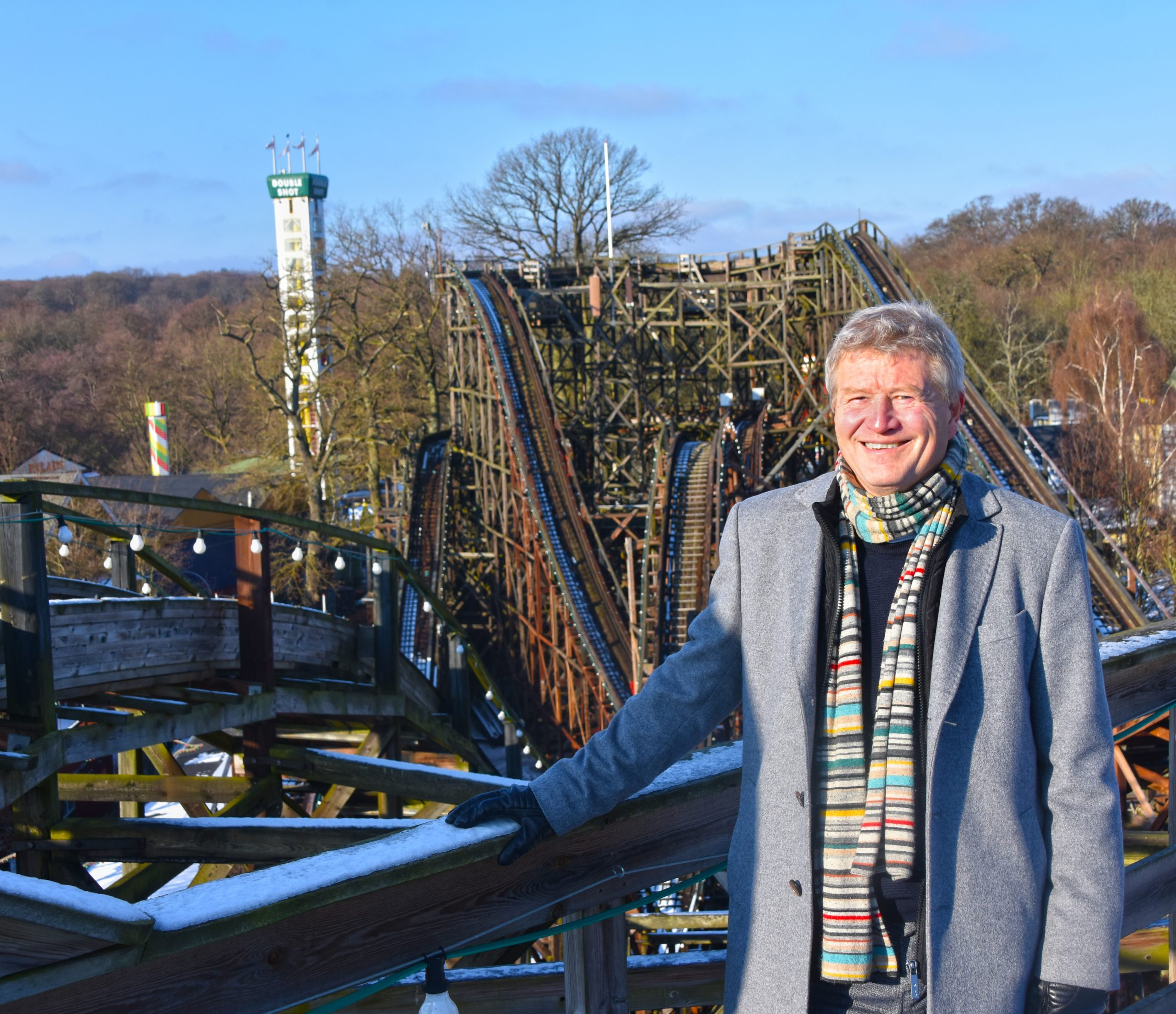 Ole Andersen begyndte 1. februar som ny administrerende direktør for Dyrehavsbakken, der har 32 kørende forlystelser, og blandt andet er hjemsted for Cirkusrevyen. PR-foto: Dyrehavsbakken.