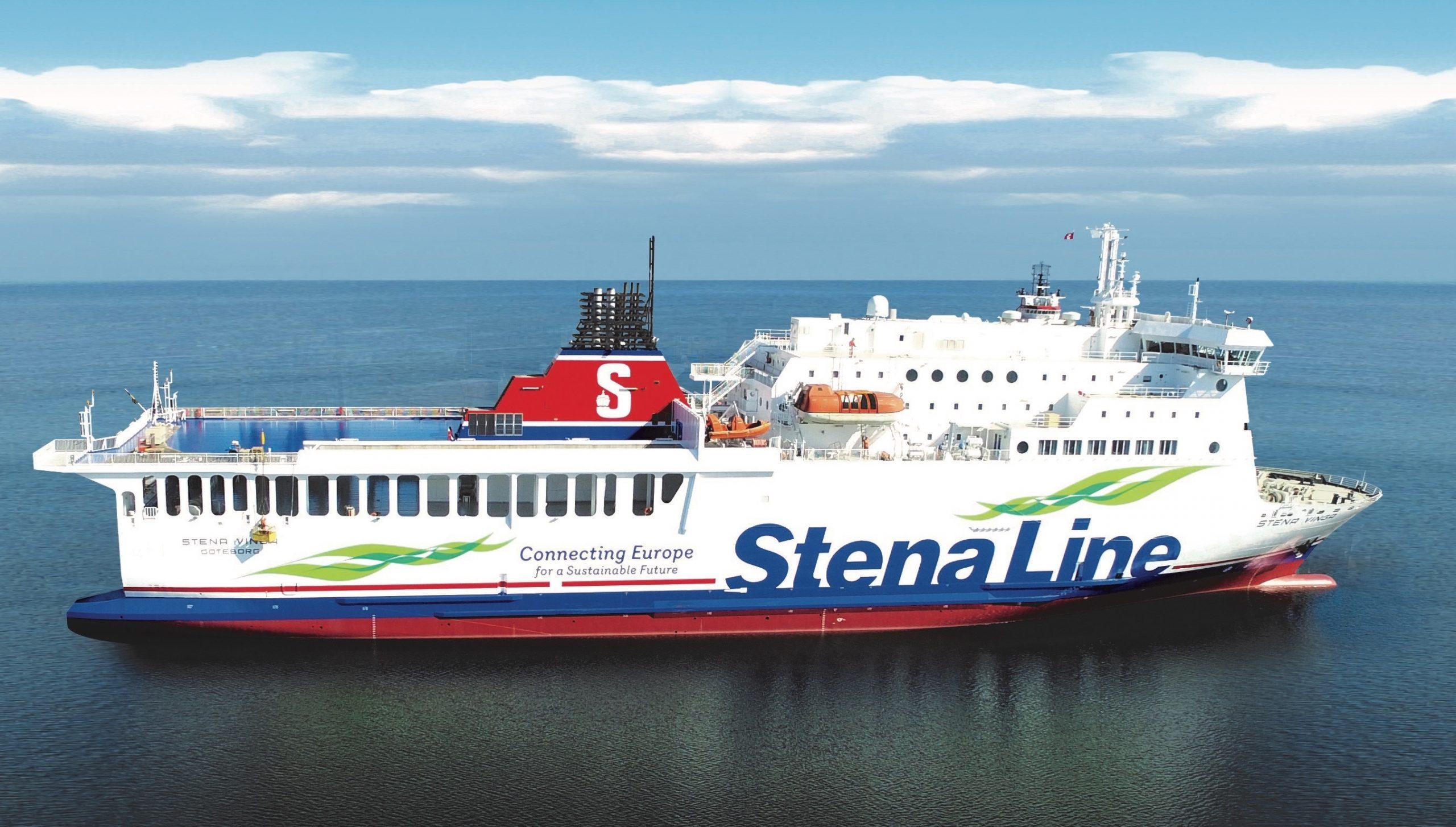 Stena-ruten mellem svenske Halmstad og Grenaa sejles i en kortere periode af dette skib, Stena Vinga, det tidligere M/F Hammerodde. Færgen er mindre end den normale operatør på ruten, Stena Nautica. Pressefoto: Stena Line.