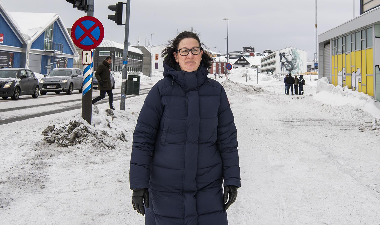 Efter 19 år i rejsebranchen, blandt andet hos Grønlands Rejsebureau og Air Greenland, åbnede Elise Bruun i 2019 sit eget rejsebureau, der nu har travlt med rejser indenfor Grønland. Foto: Leiff Josefsen.