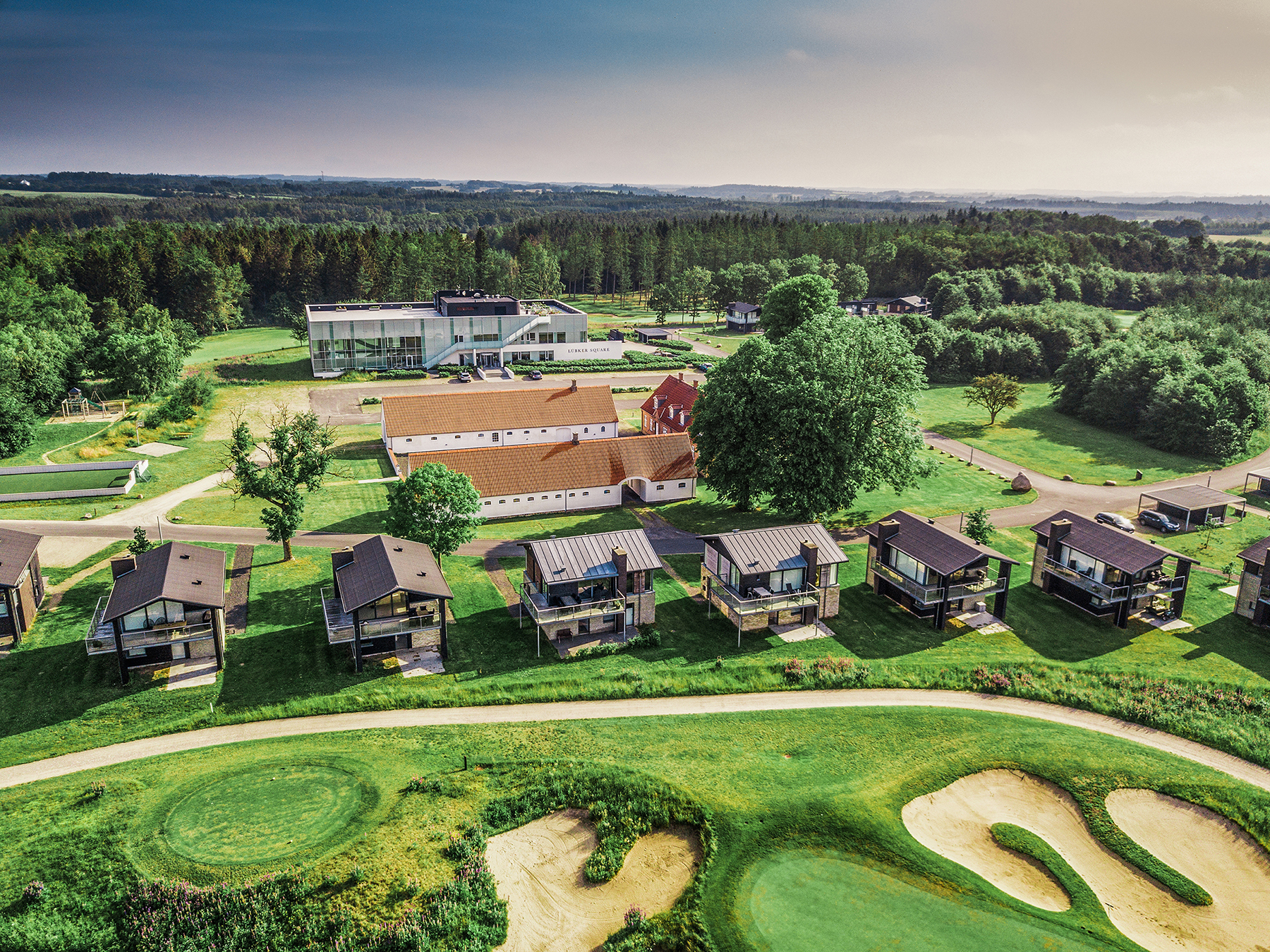Lübker Golf Resort skal udvides med eget hotel ligesom der kommer flere ferieboliger og en større spa. Arkivpressefoto: Lübker Golf Resort.