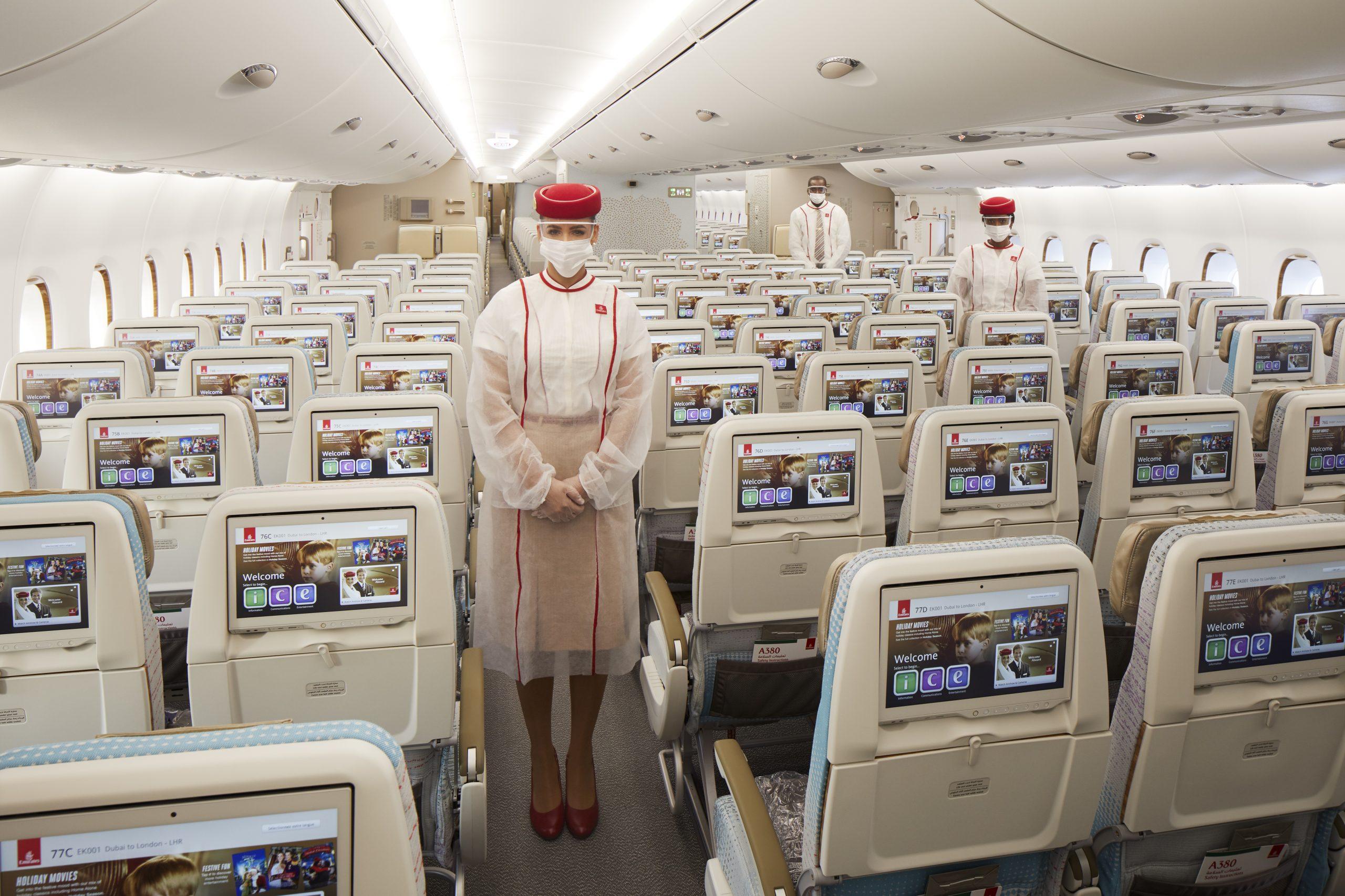 Passagerer på særflyvningen EK2021 kan blandt andet købe plads på Premium Economy, der er ved at få helt nye sæder hos Emirates. Pressefoto: Emirates.