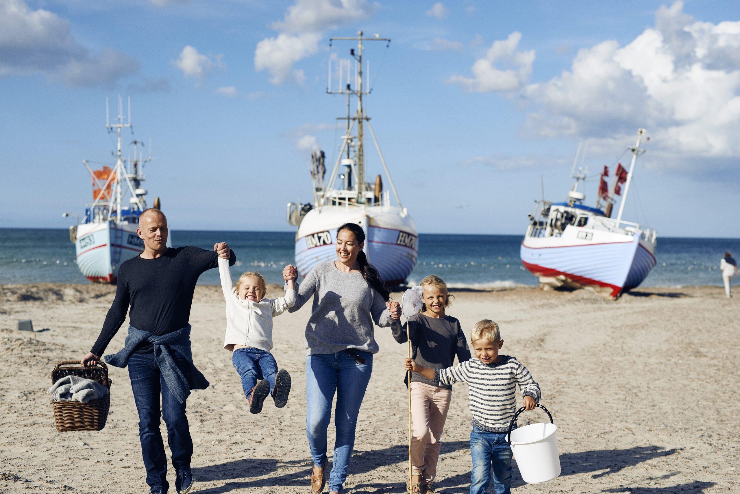 Der er øget fokus på atter at holde ferie i Danmark fra de fem primære markeder. Her er der feriestemning på nordjyske Thorup Strand. Arkivpressefoto fra VisitDenmark: Niclas Jessen.