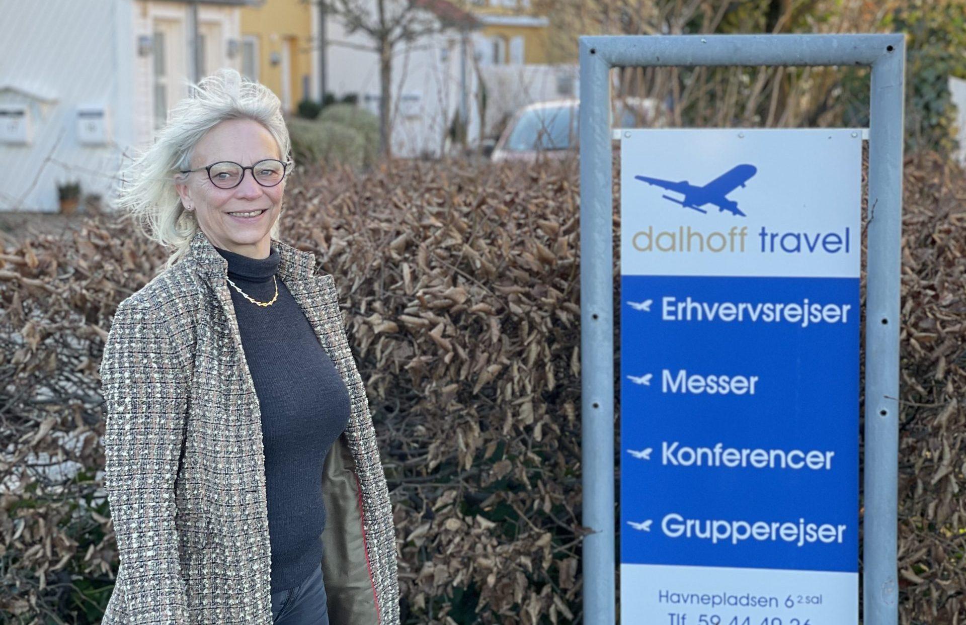 Tina Dalhoff, ejer af og administrerende direktør for erhvervsrejsebureauet Dalhoff Travel i Holbæk. Privatfoto.
