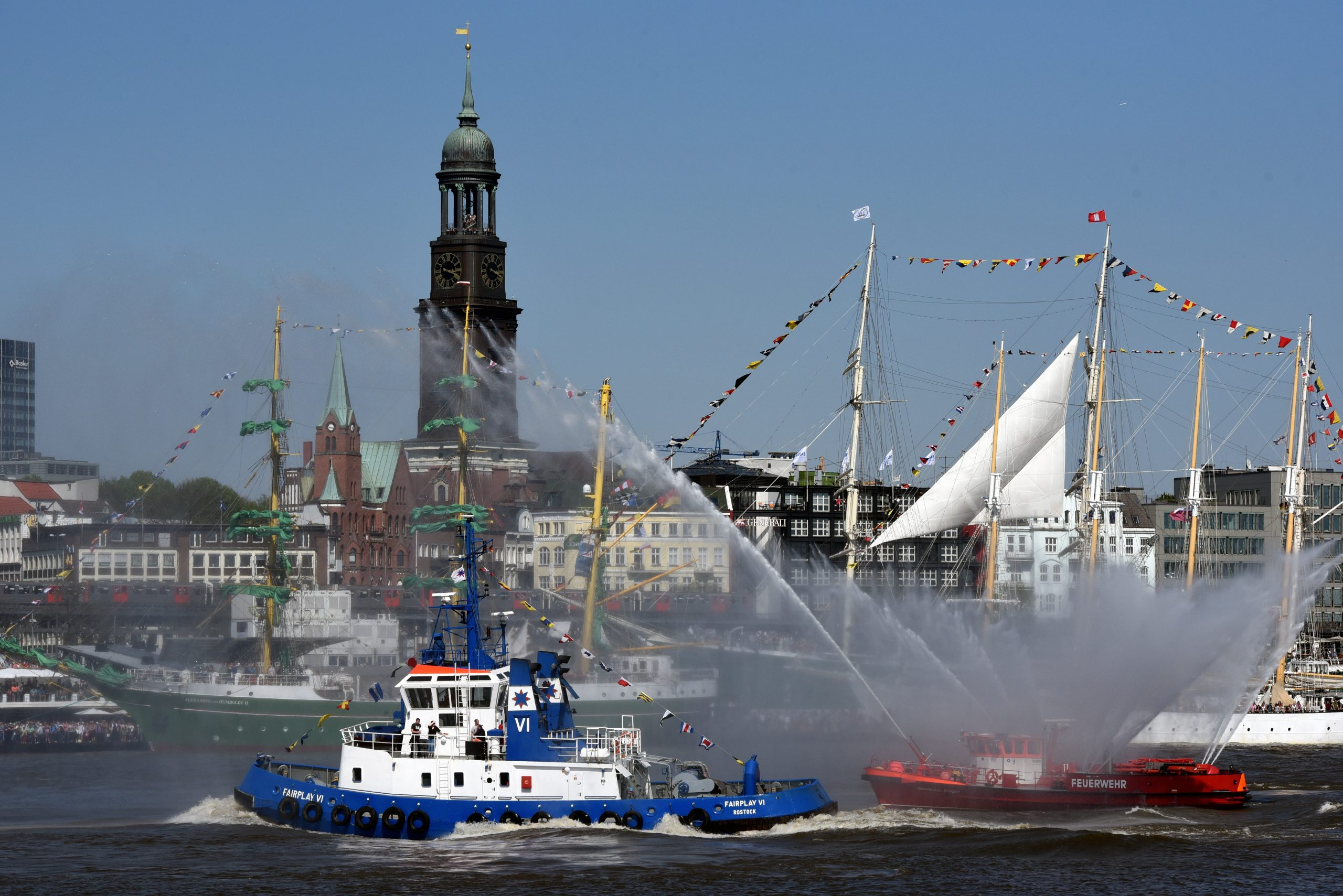 Hamborg, billedet, er sammen med Slesvig-Holsten, Berlin, Niedersachsen og Bayern de fem regioner, danskerne har flest overnatninger i under ophold i Tyskland. Pressefoto Nicolas Maack for DZT, Deutsche Zentrale für Tourismus.