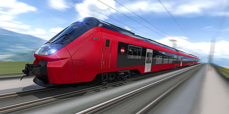 De første af de nye Alstom el-togsæt leveres efter planen i 2024 og de sidste i 2029. Illustration: DSB.