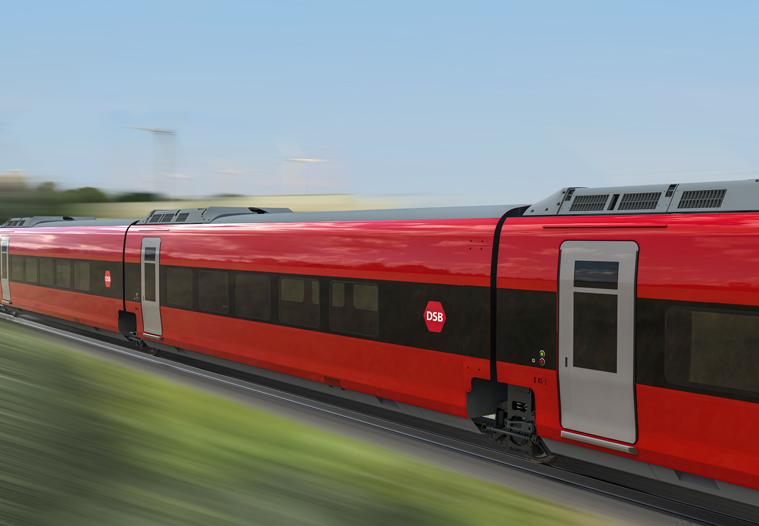 DSB sælger stadig flere internationale togbilletter, navnlig til Hamborg. For at imødekomme den stigende efterspørgsel, har DSB bestilt flere af disse Talgo-passagervogne, der kan køre på både danske og tyske strøm- og sikkerhedssystemer. PR-foto fra DSB.